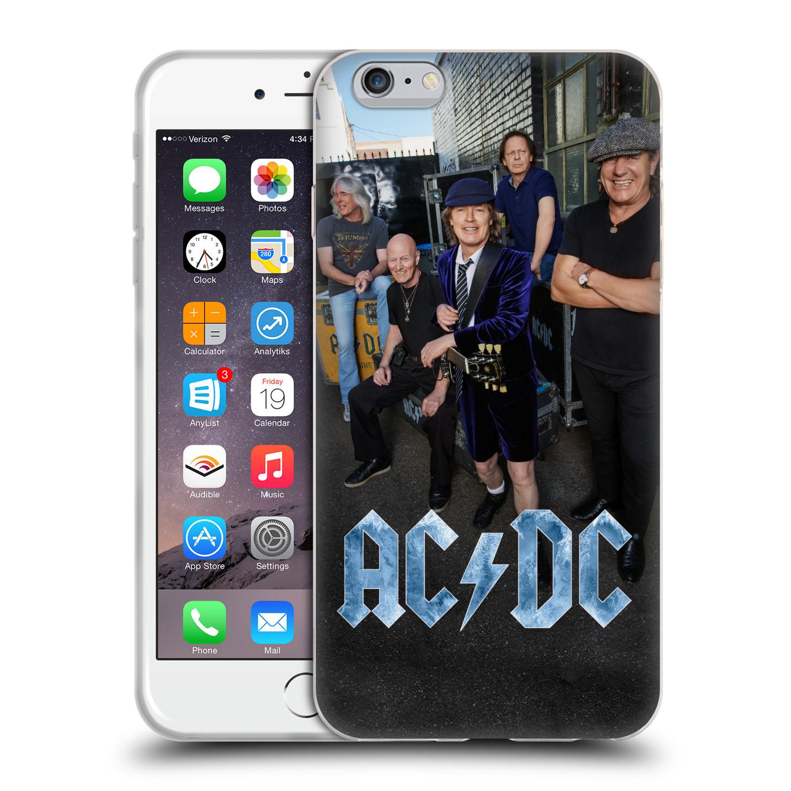 HEAD CASE silikonový obal na mobil Apple Iphone 6/6S PLUS rocková skupina ACDC fotka garáž