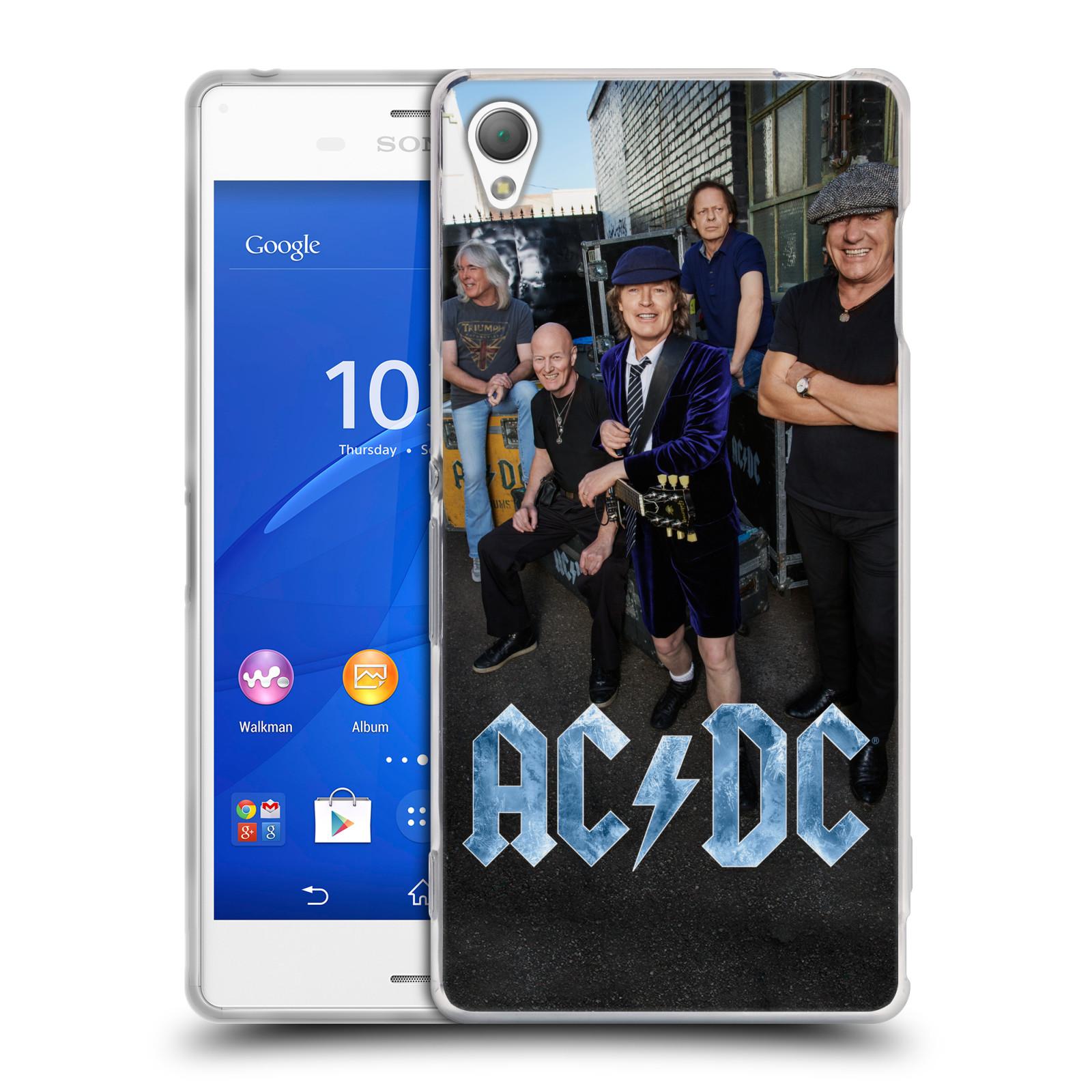 HEAD CASE silikonový obal na mobil Sony Xperia Z3 rocková skupina ACDC fotka garáž