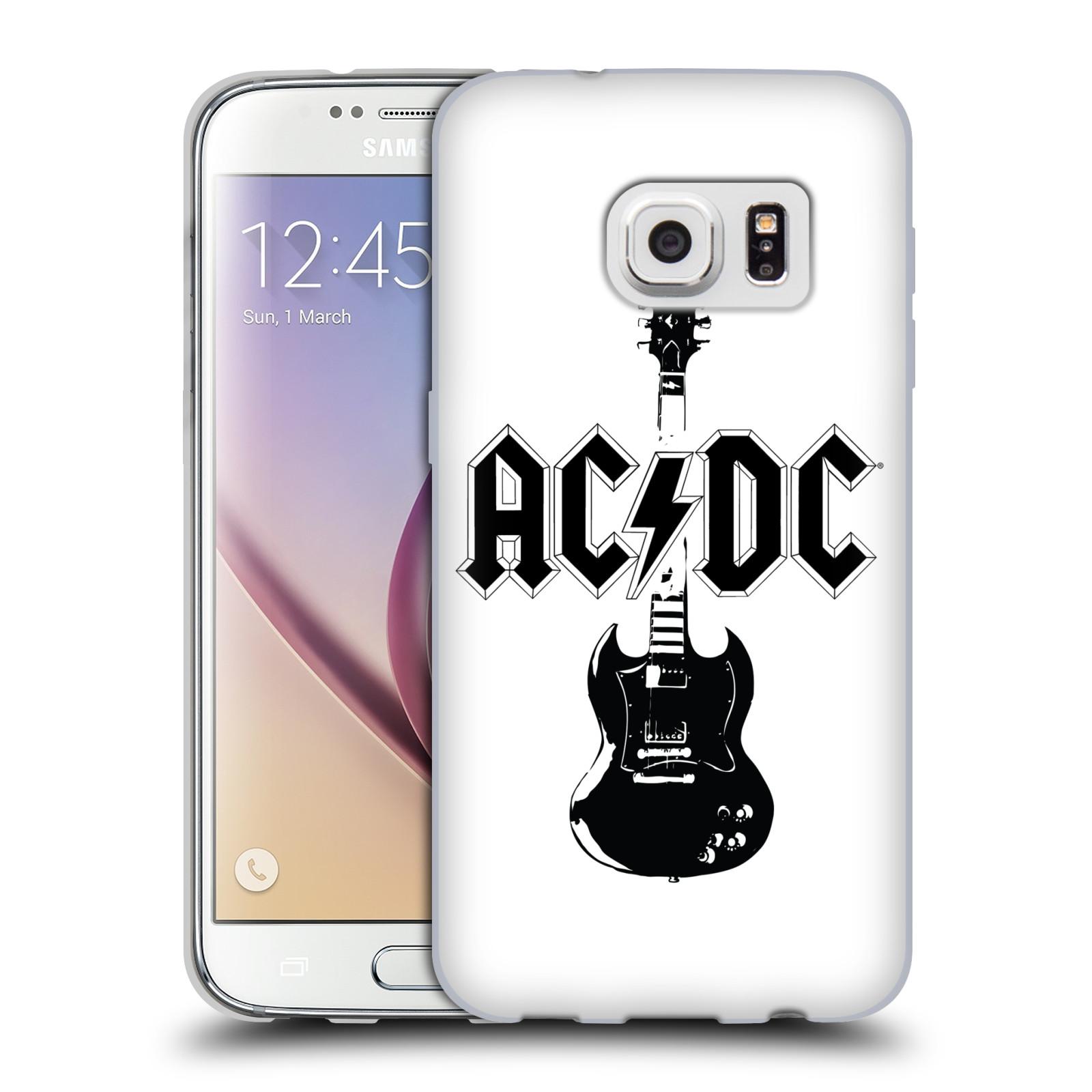 HEAD CASE silikonový obal na mobil Samsung Galaxy S7 rocková skupina ACDC kytara černá a bílá
