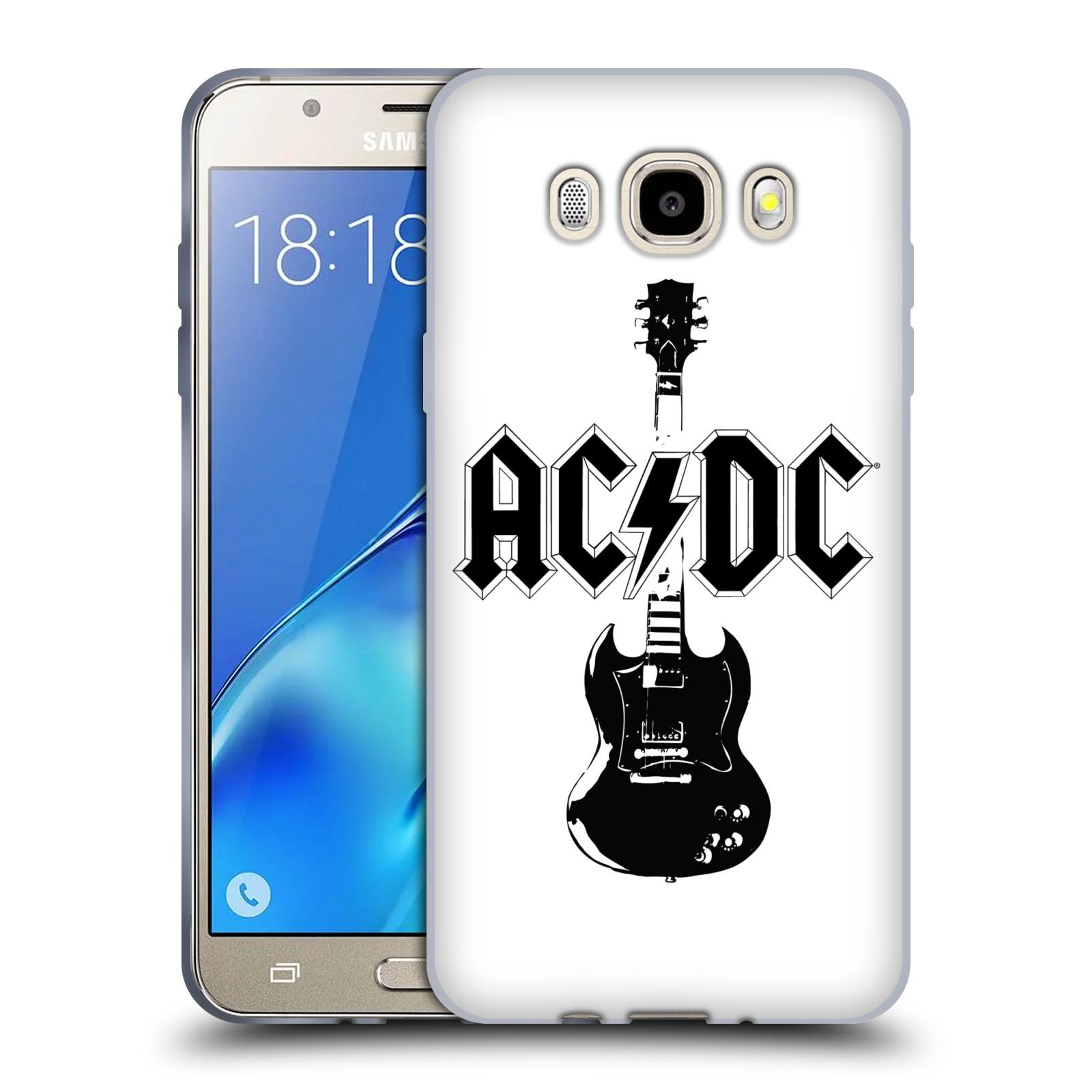 HEAD CASE silikonový obal na mobil Samsung Galaxy J5 2016 (J510) rocková skupina ACDC kytara černá a bílá