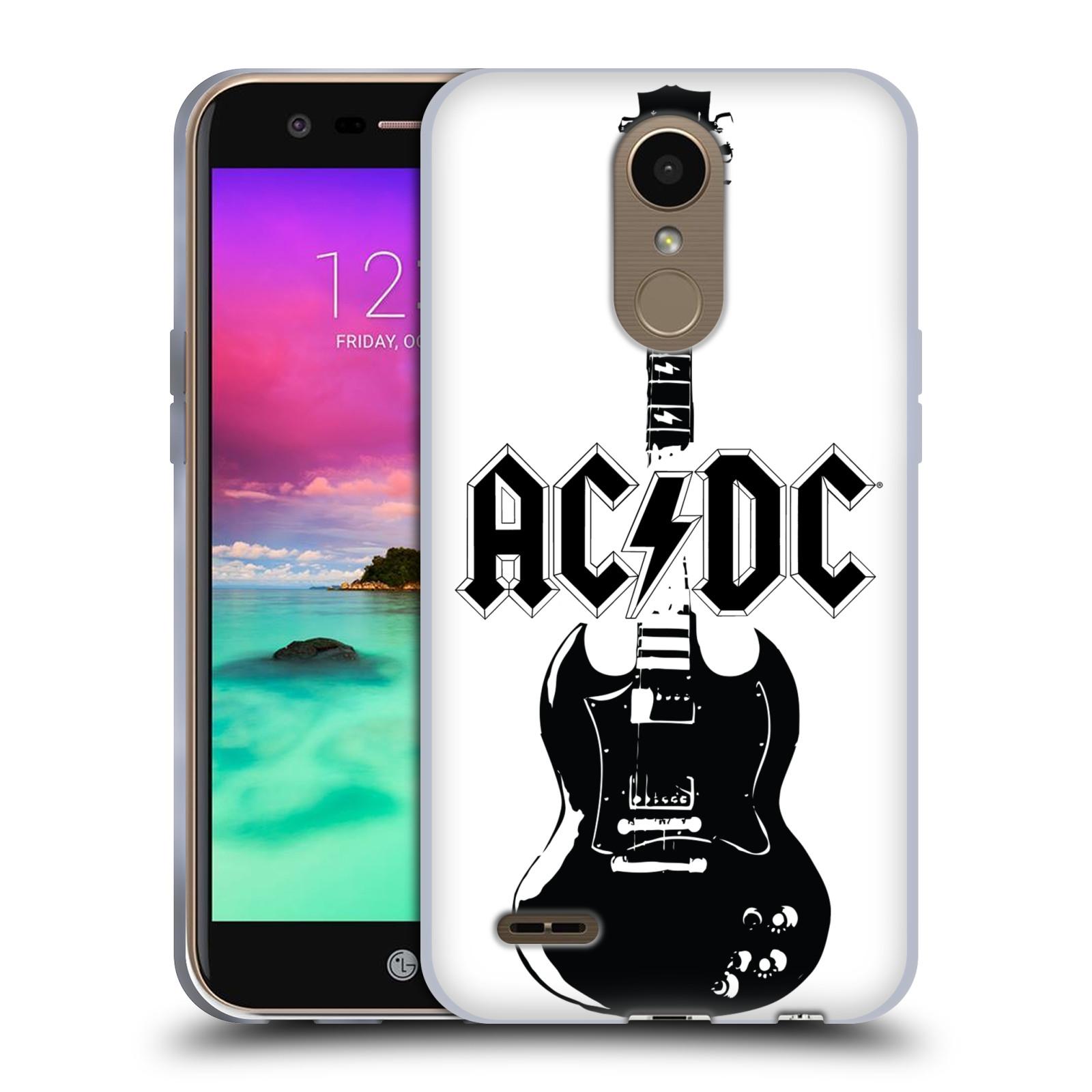 HEAD CASE silikonový obal na mobil LG K10 2017 / K10 2017 DUAL SIM rocková skupina ACDC kytara černá a bílá