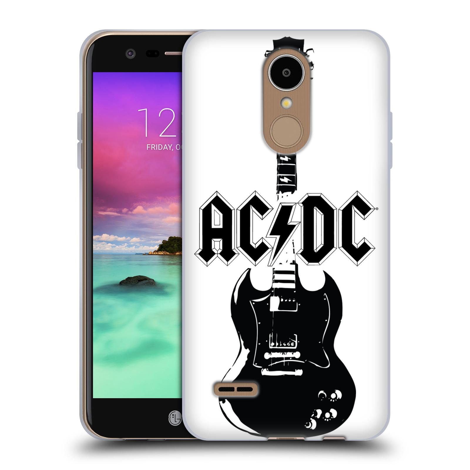 HEAD CASE silikonový obal na mobil LG K8 2017 / M200E, M200N rocková skupina ACDC kytara černá a bílá