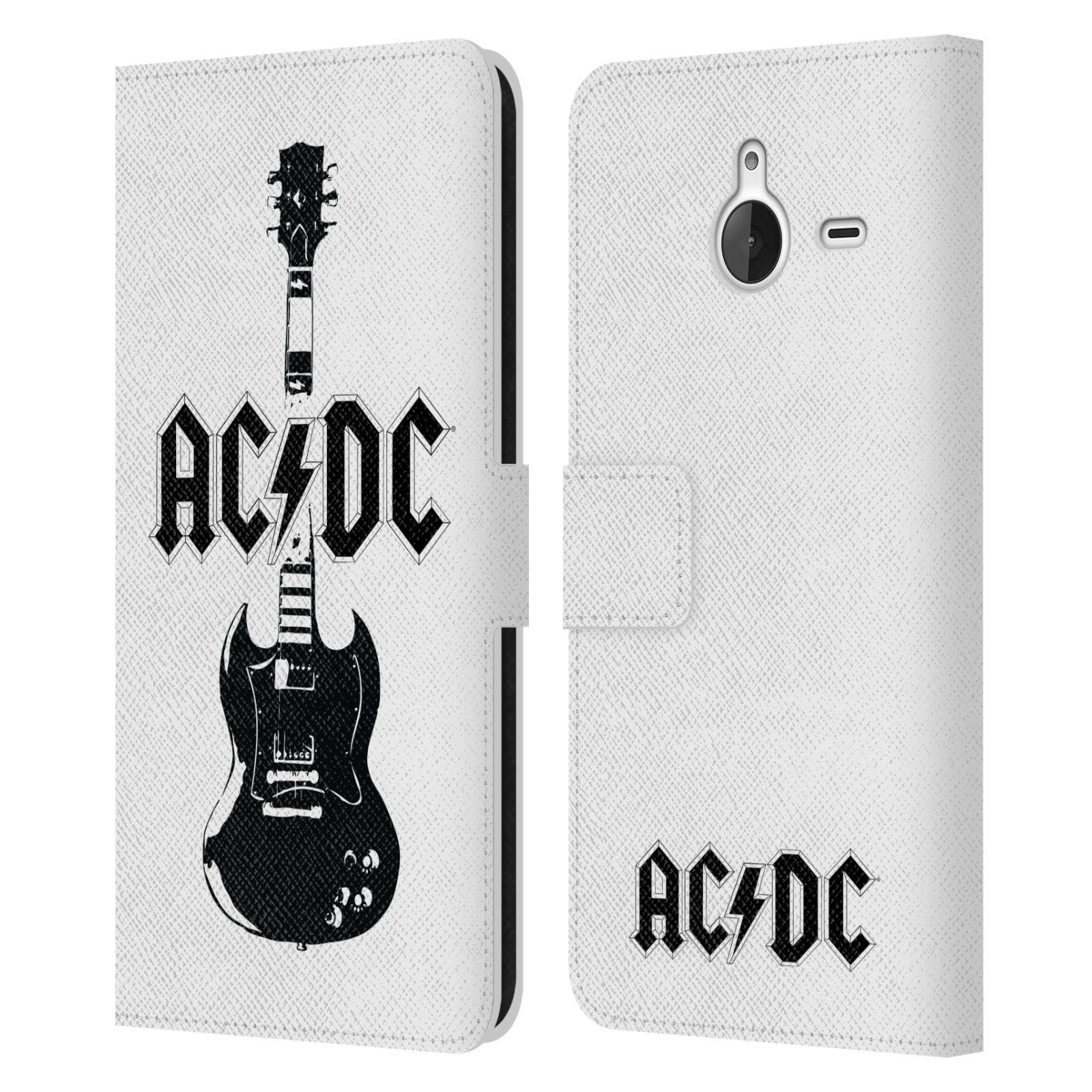 Pouzdro na mobil Nokia Lumia 640 XL - Head Case - Rockova skupina ACDC kytara