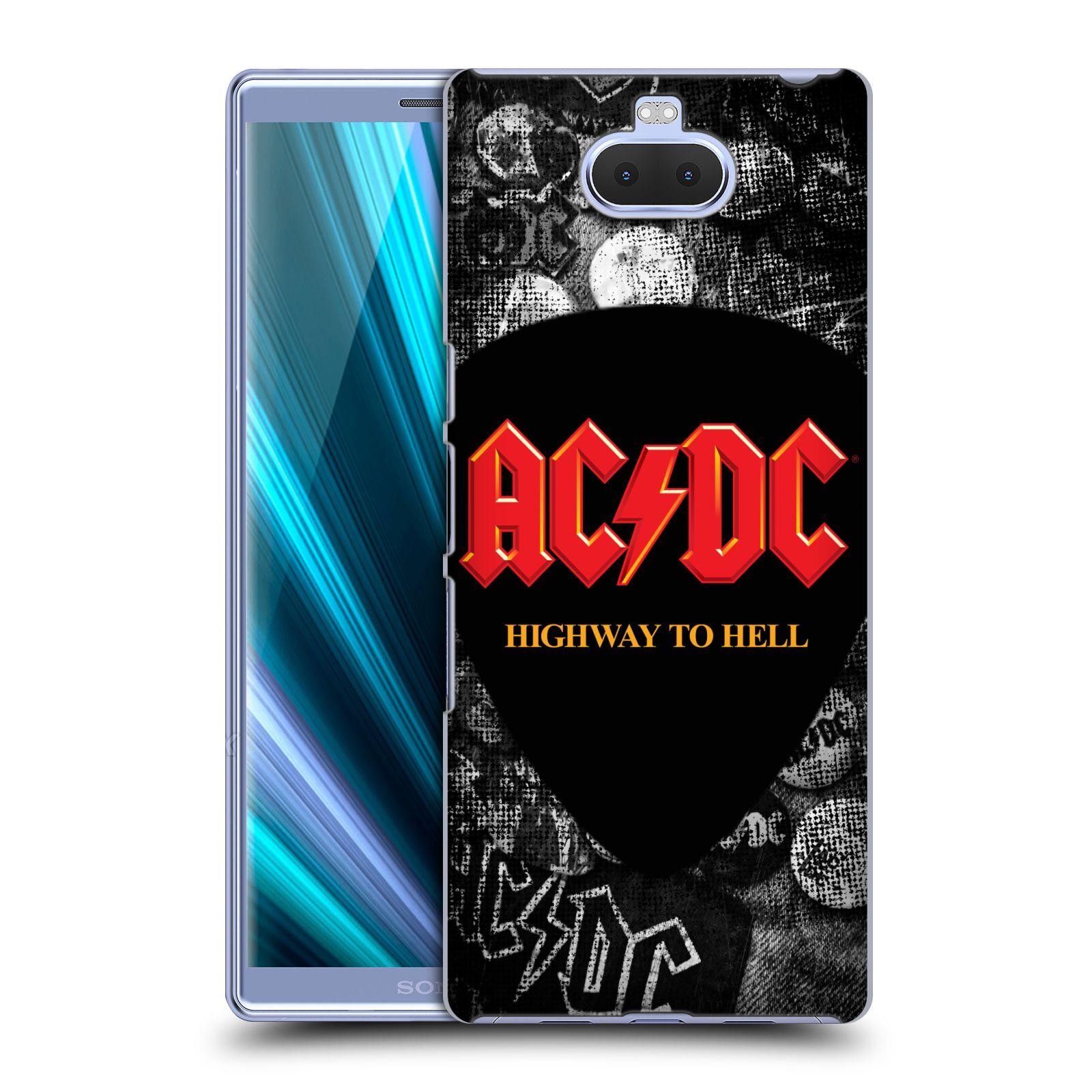 Pouzdro na mobil Sony Xperia 10 - Head Case - rocková skupina ACDC logo Highway to Hell trsátko
