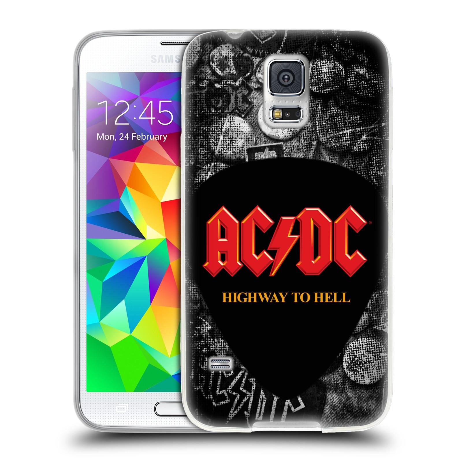 HEAD CASE silikonový obal na mobil Samsung Galaxy S5 rocková skupina ACDC logo Highway to Hell trsátko