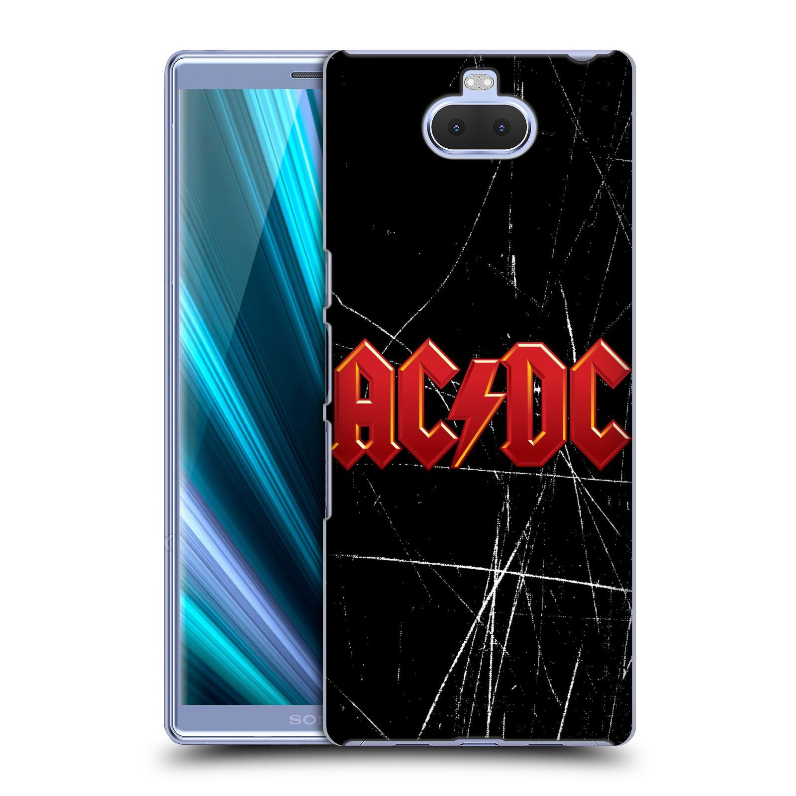 Pouzdro na mobil Sony Xperia 10 - Head Case - rocková skupina ACDC červený nadpis logo