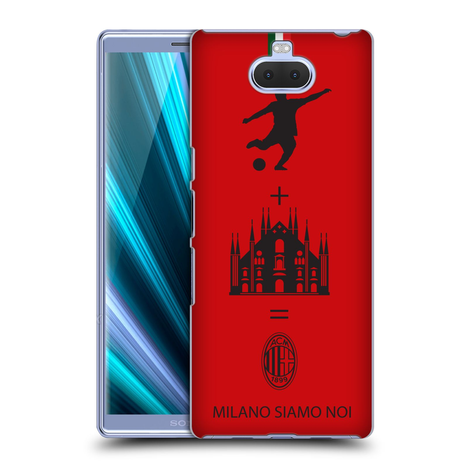 Pouzdro na mobil Sony Xperia 10 - Head Case - oficiální kryt fotbalový tým AC MILÁN červená