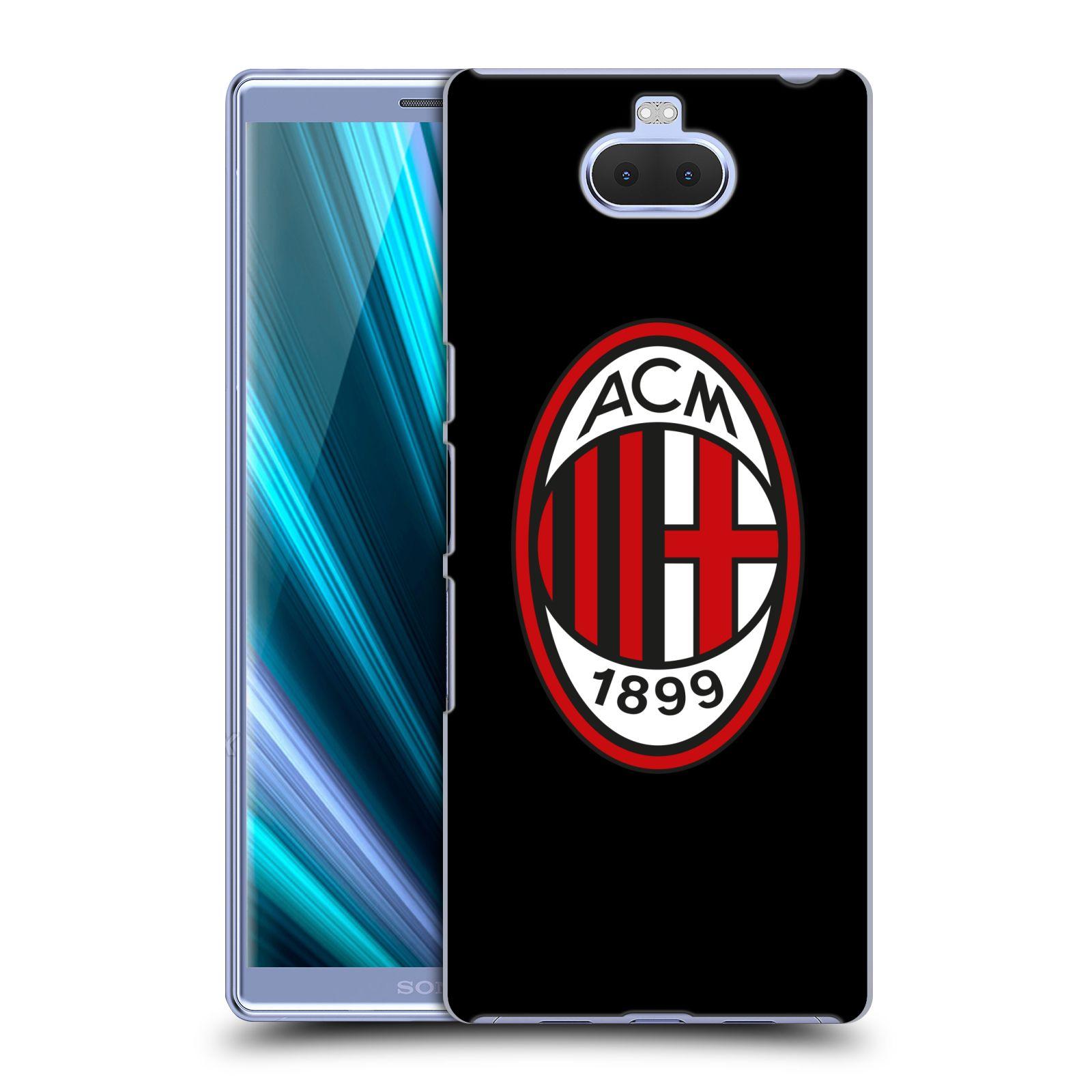 Pouzdro na mobil Sony Xperia 10 - Head Case - oficiální kryt fotbalový tým AC MILÁN plné barvy černá