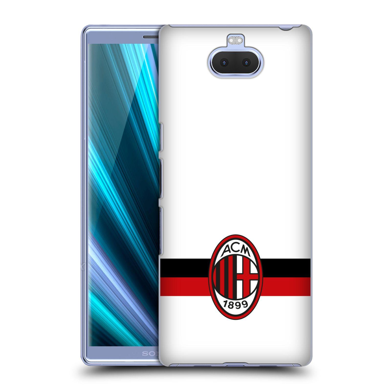 Pouzdro na mobil Sony Xperia 10 - Head Case - oficiální kryt fotbalový tým AC MILÁN bílá