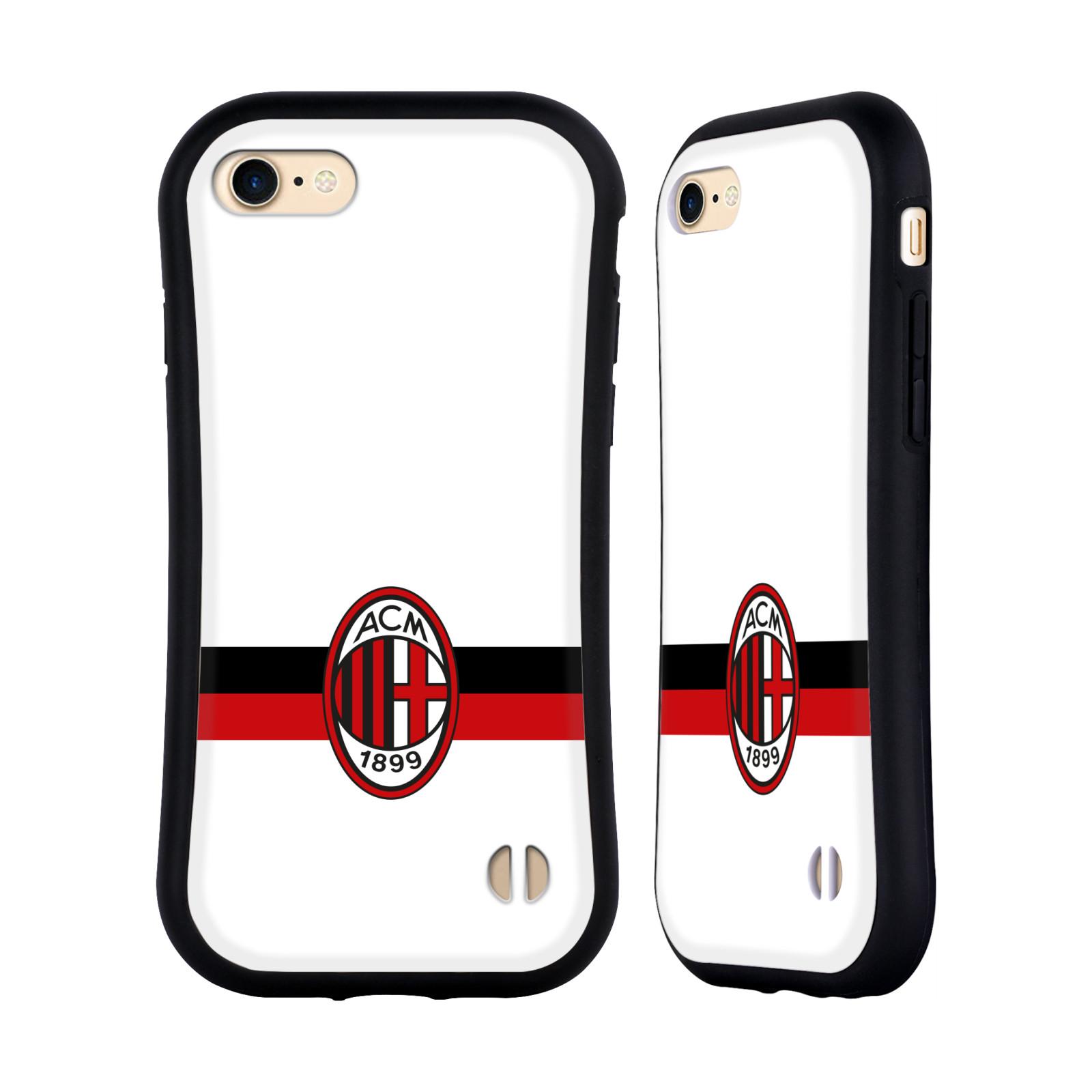 HEAD CASE odolný obal na mobil Apple Iphone 8 oficiální kryt fotbalový tým AC MILÁN bílá