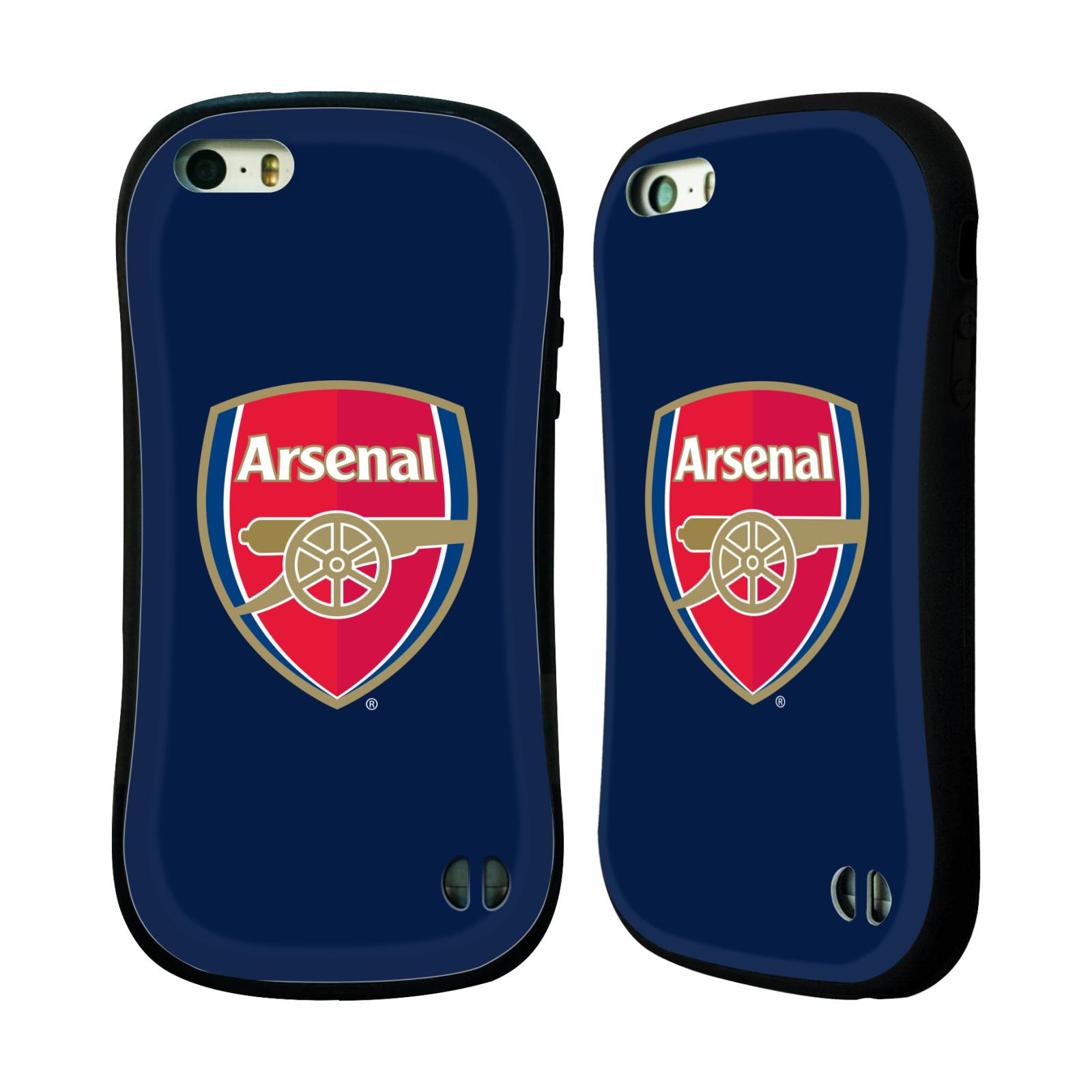 HEAD CASE odolný obal na mobil Apple Iphone 5 5S a SE Fotbalový klub  Arsenal znak barevný modré pozadí 0db64381aa0