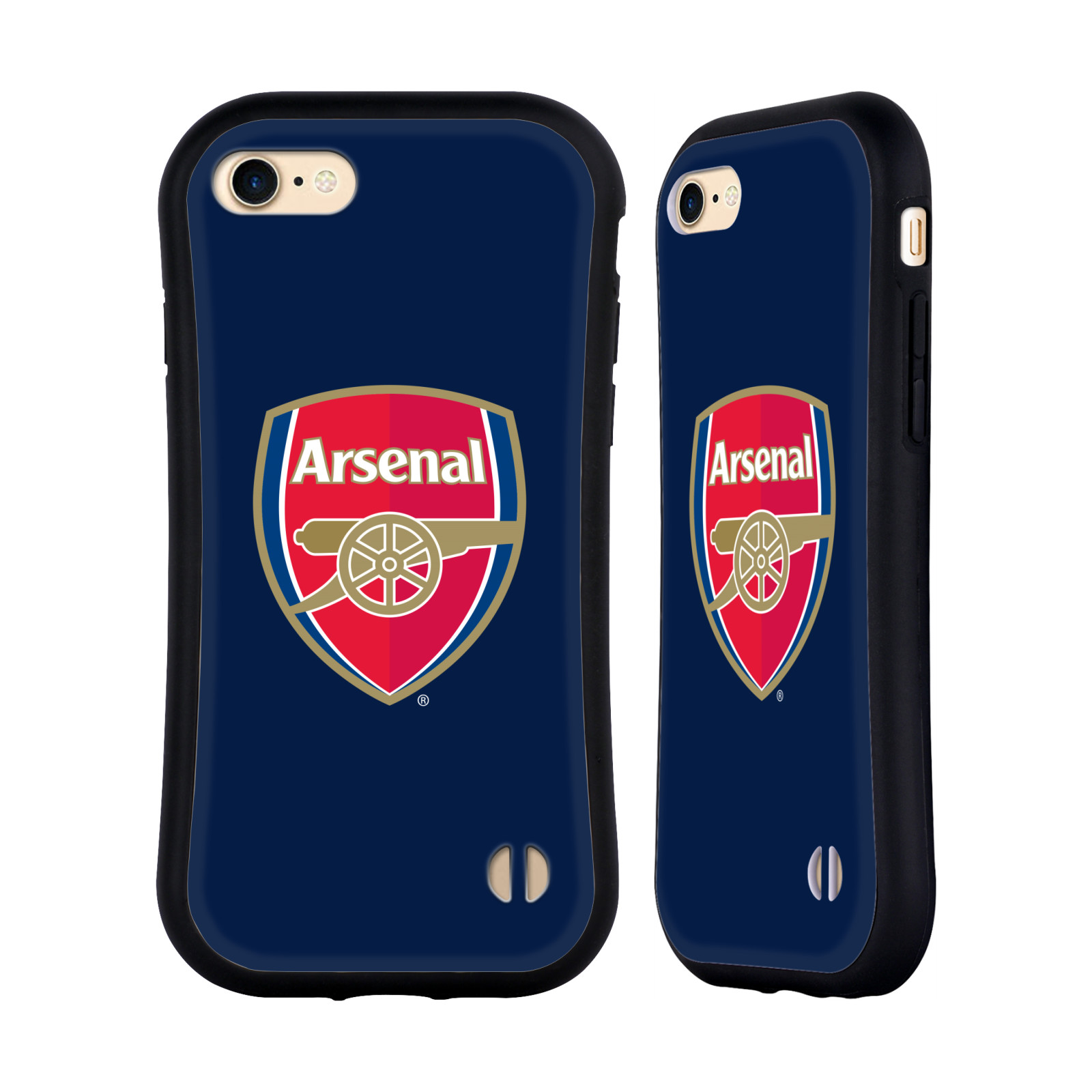 HEAD CASE odolný obal na mobil Apple Iphone 8 Fotbalový klub Arsenal znak barevný modré pozadí