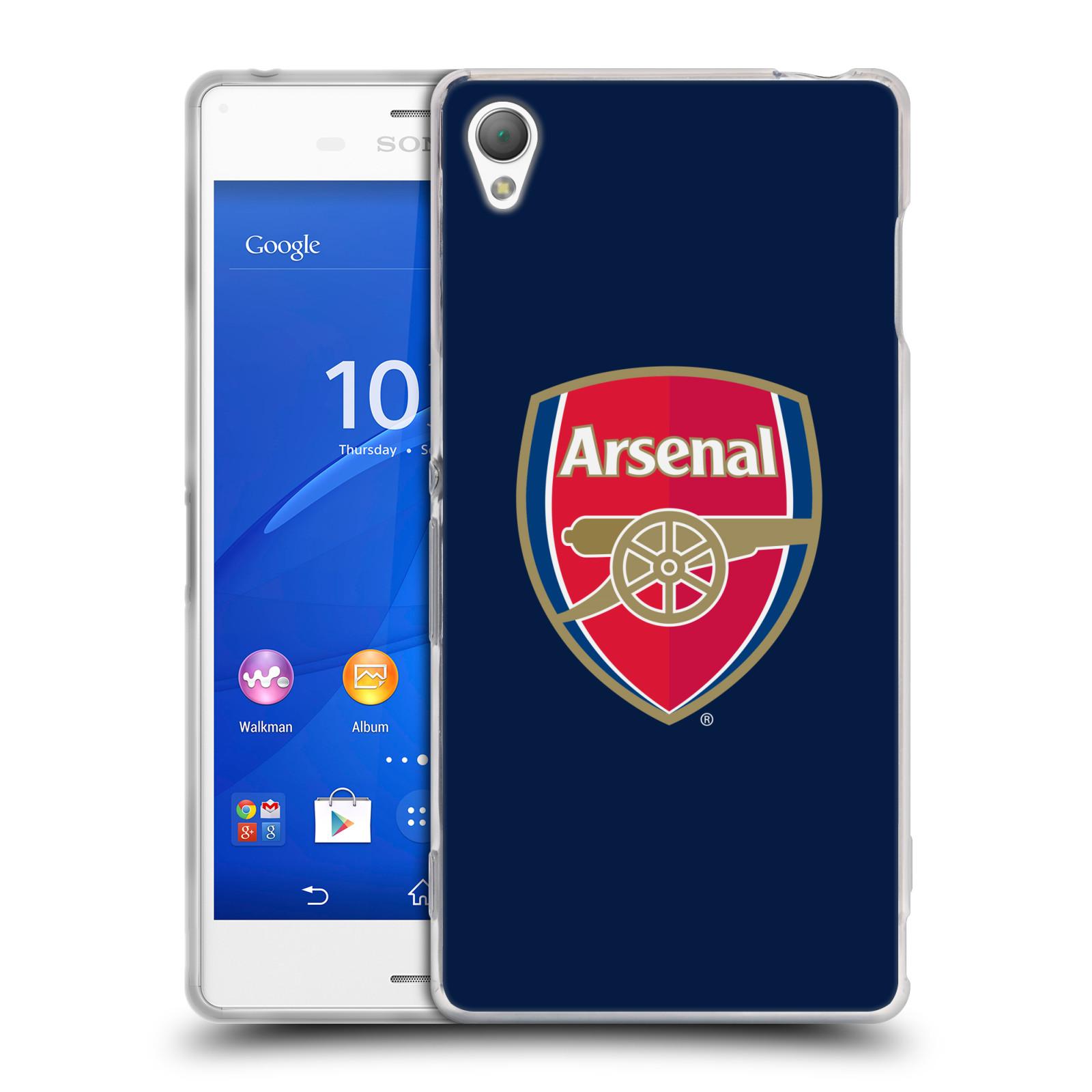 HEAD CASE silikonový obal na mobil Sony Xperia Z3 Fotbalový klub Arsenal znak barevný modré pozadí