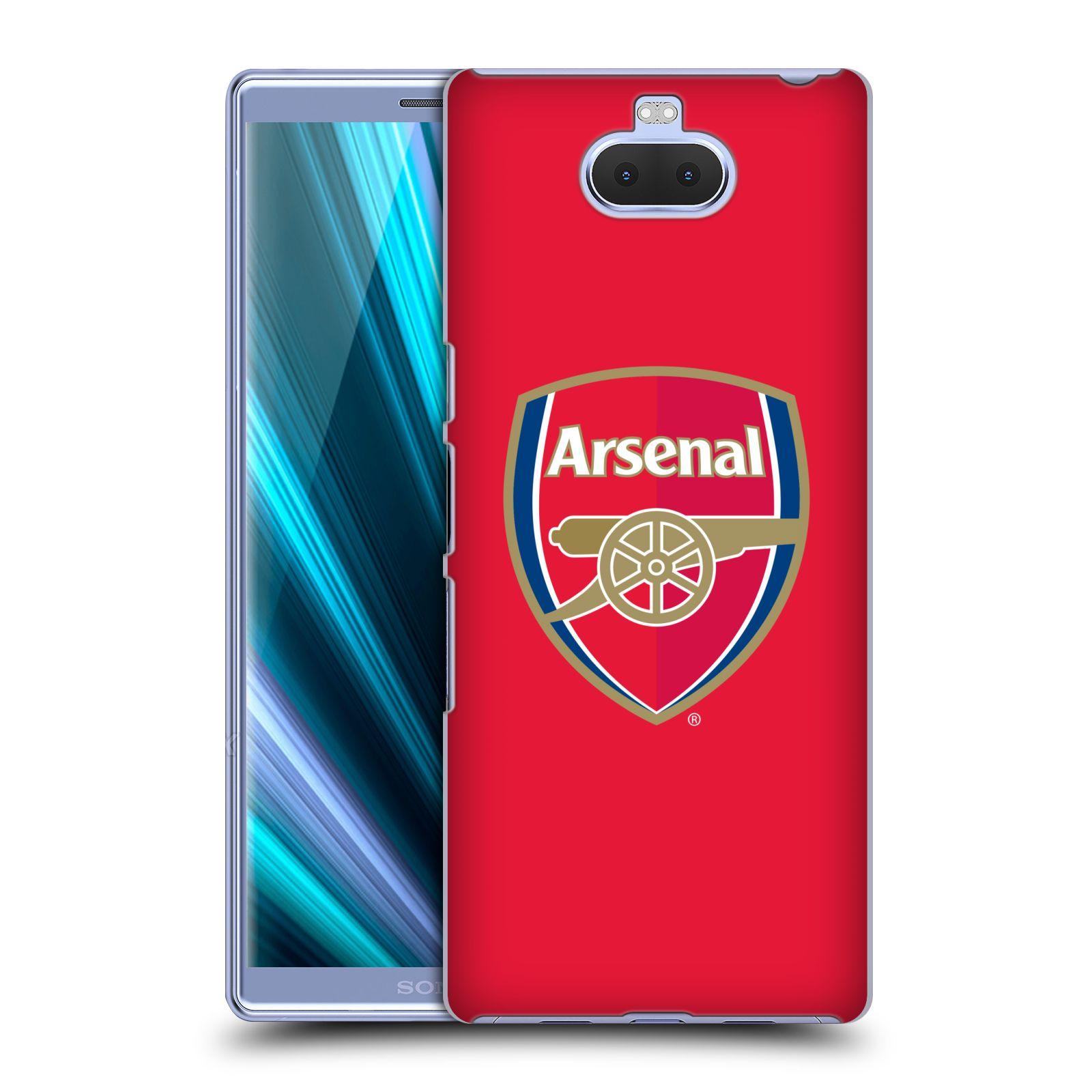 Pouzdro na mobil Sony Xperia 10 - Head Case - Fotbalový klub Arsenal znak barevný červené pozadí