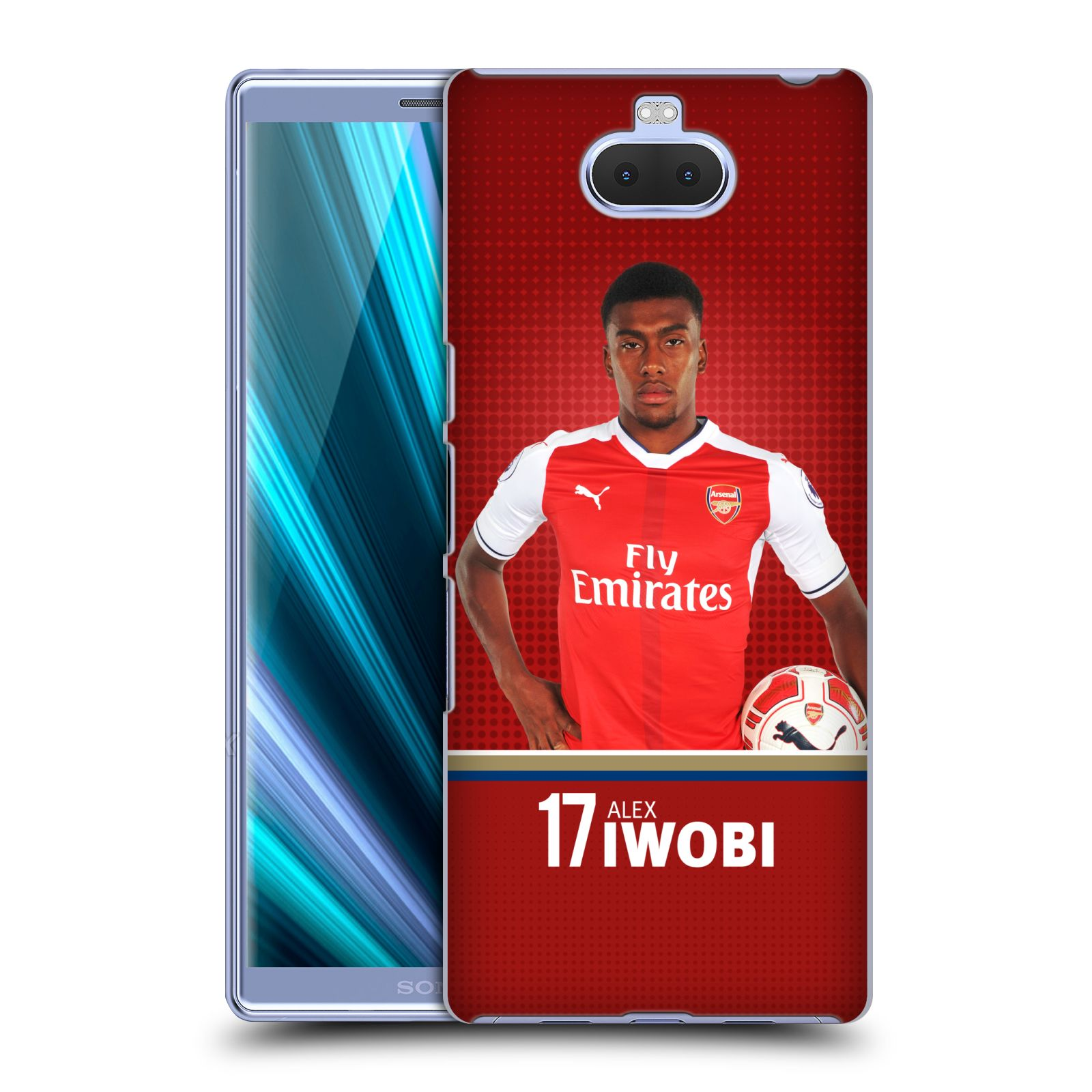 Pouzdro na mobil Sony Xperia 10 - Head Case - Fotbalový klub Arsenal fotbalista Alex Iwobi