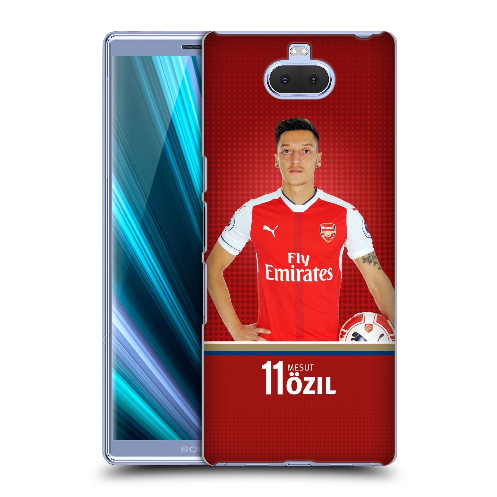 Pouzdro na mobil Sony Xperia 10 - Head Case - Fotbalový klub Arsenal fotbalista Mesut Ozil