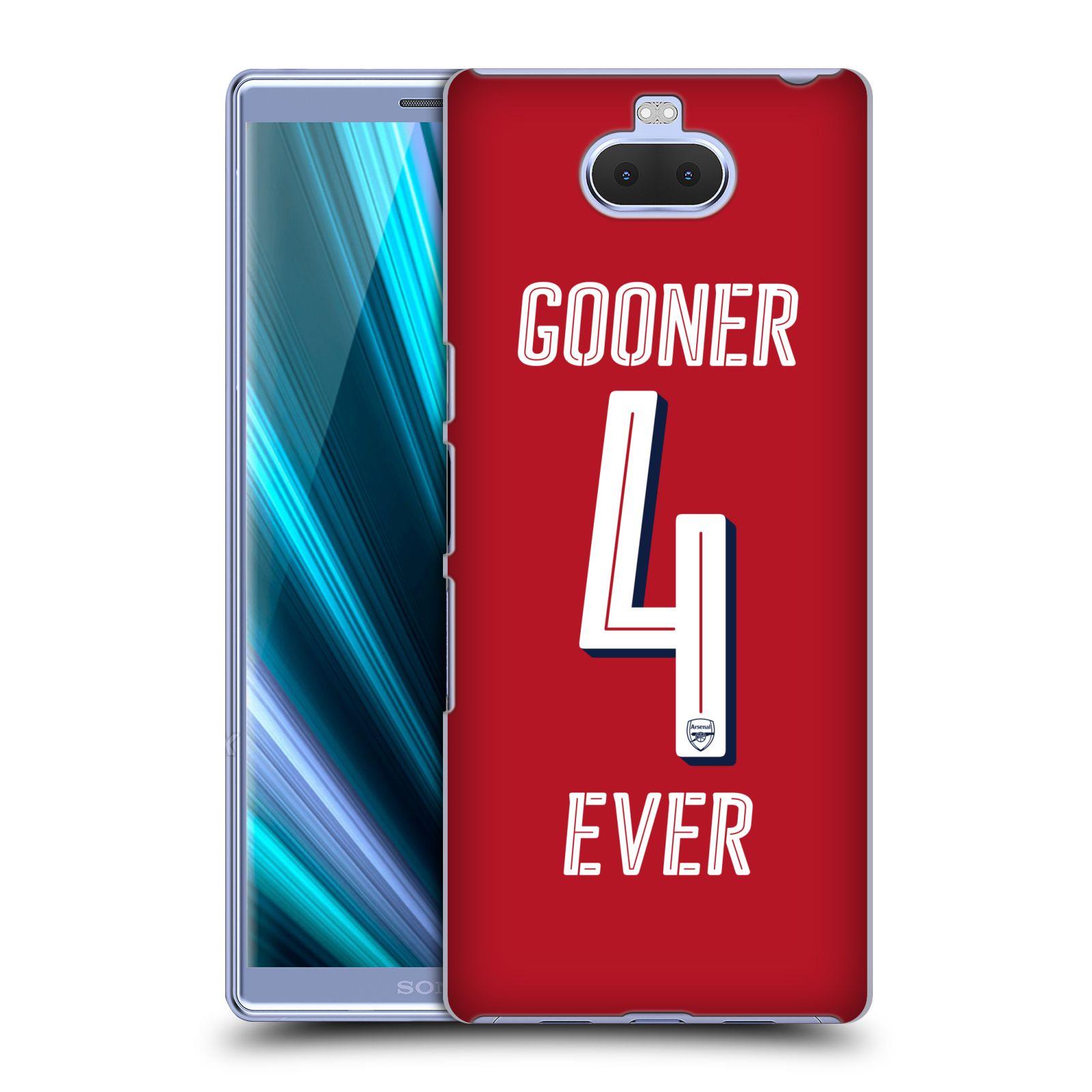 Pouzdro na mobil Sony Xperia 10 - Head Case - Fotbalový klub Arsenal navždy 4 ever červená