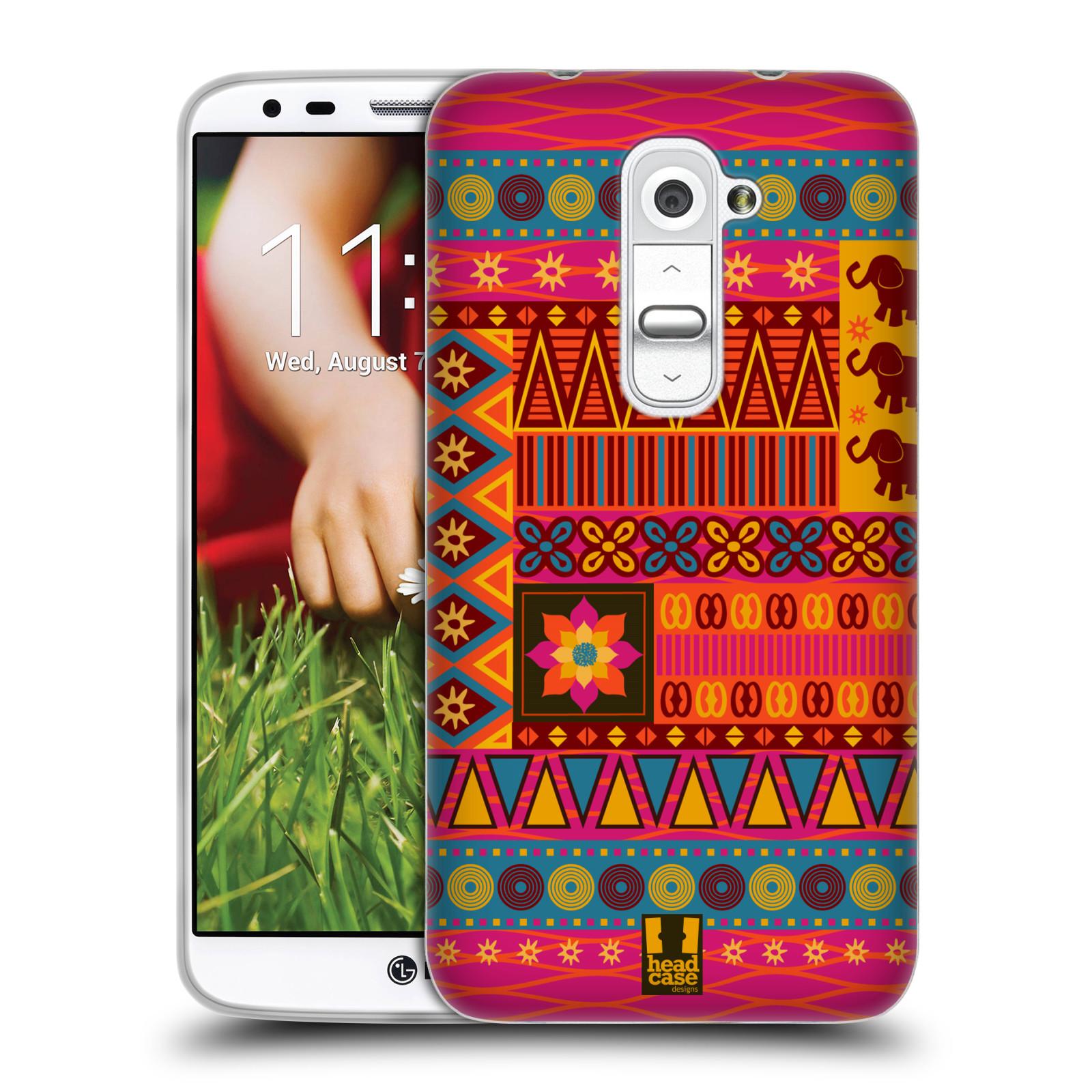 HEAD CASE silikonový obal na mobil LG G2 vzor Africké motivy 2 KRÁSA