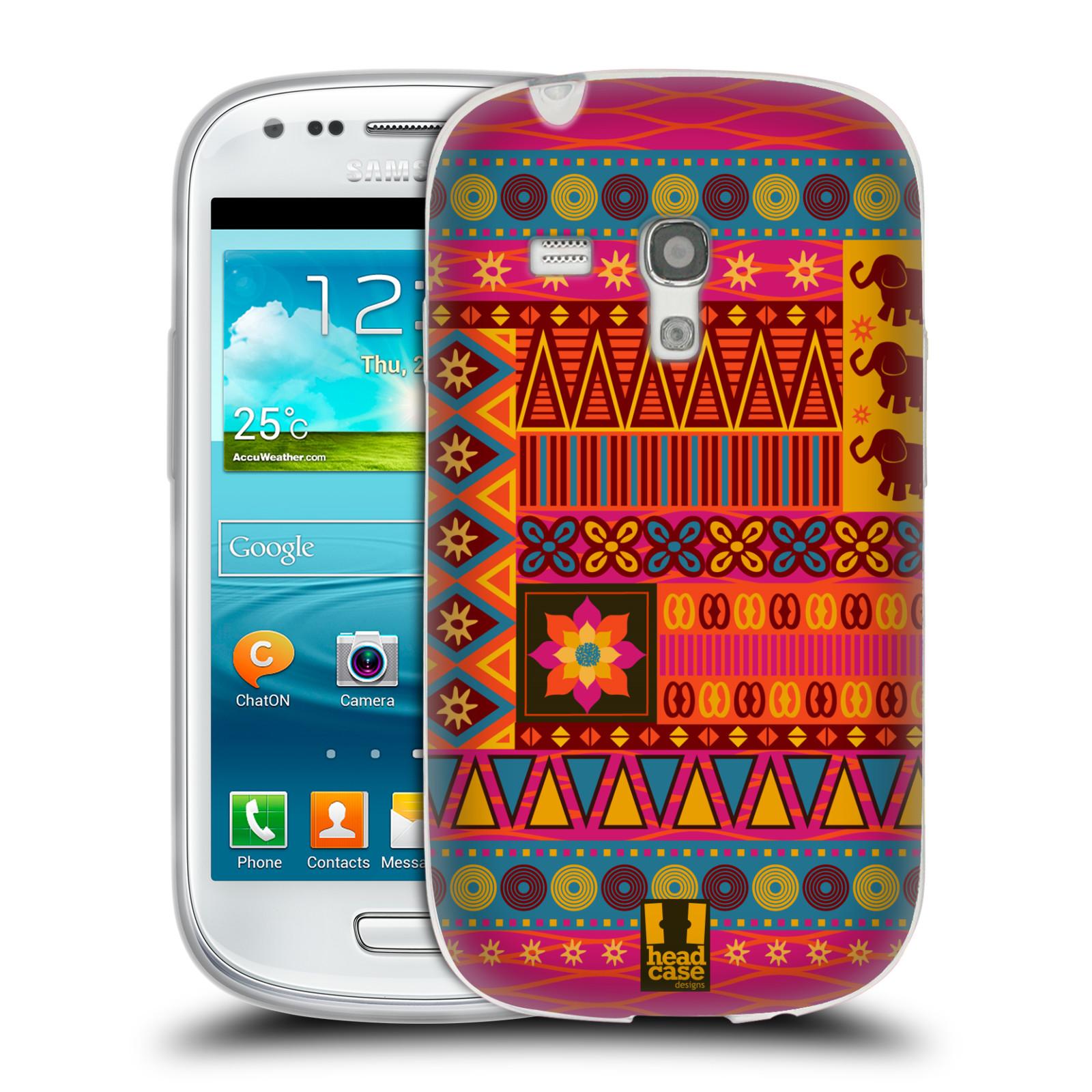 HEAD CASE silikonový obal na mobil Samsung Galaxy S3 MINI i8190 vzor Africké motivy 2 KRÁSA