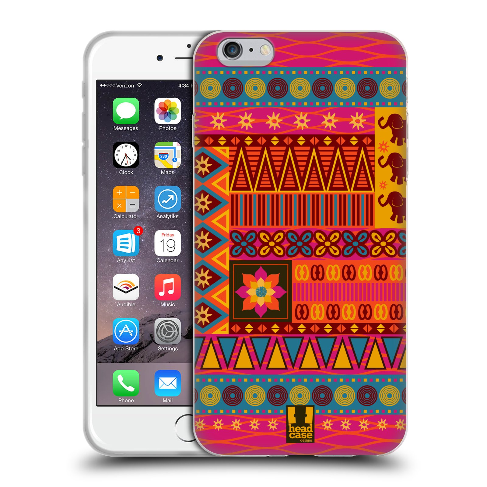 HEAD CASE silikonový obal na mobil Apple Iphone 6 PLUS/ 6S PLUS vzor Africké motivy 2 KRÁSA