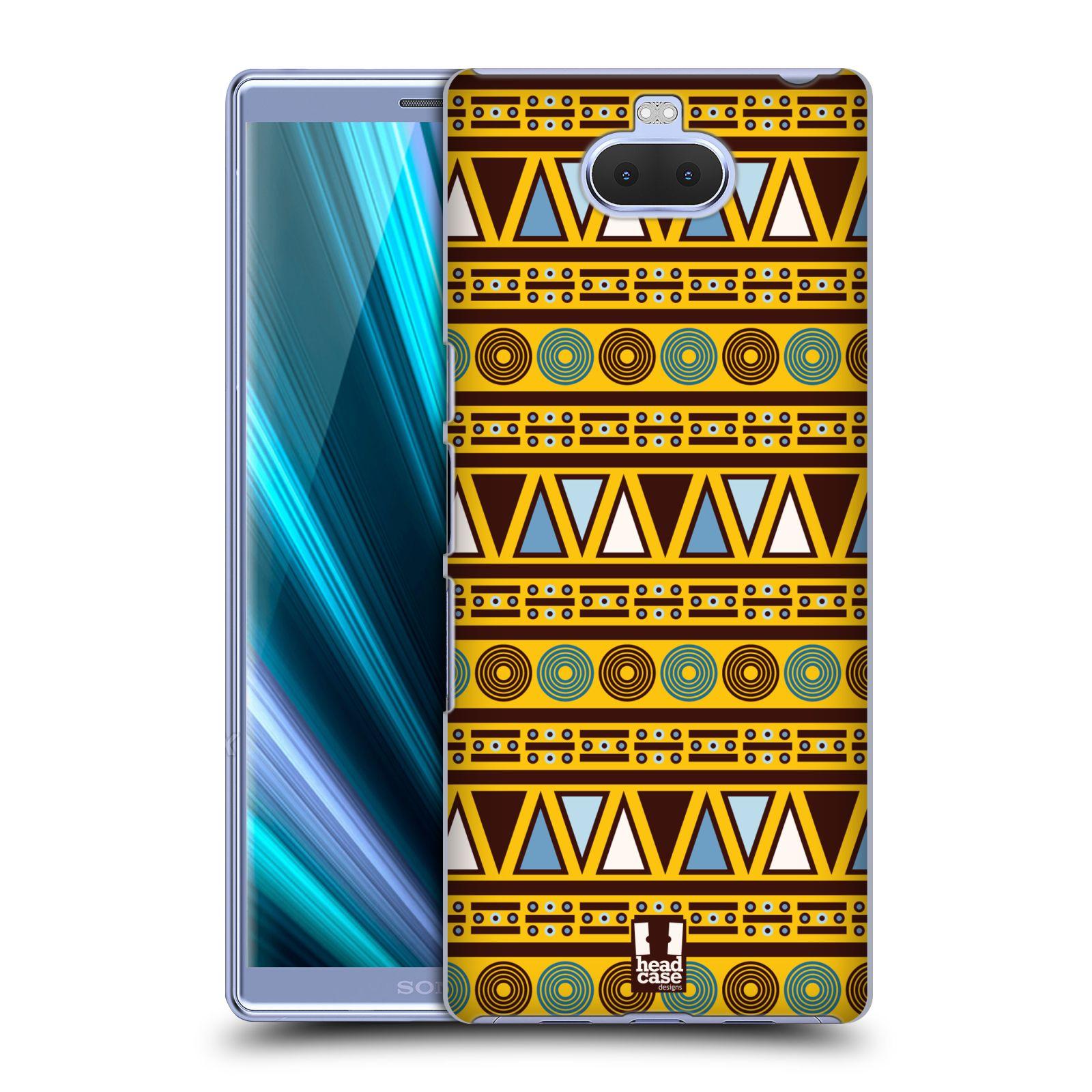 Pouzdro na mobil Sony Xperia 10 - Head Case - vzor Africké motivy 2 KULTURA
