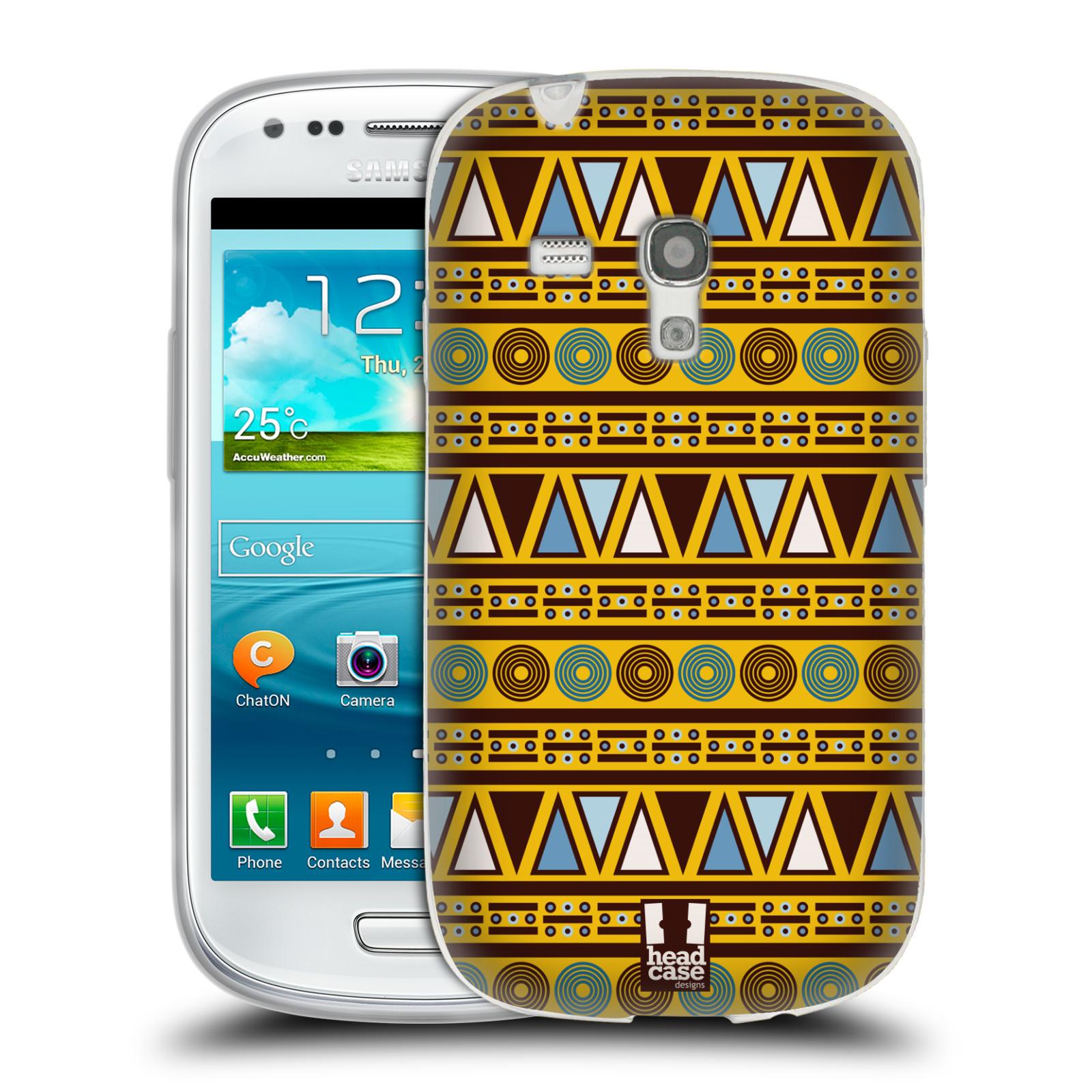 HEAD CASE silikonový obal na mobil Samsung Galaxy S3 MINI i8190 vzor Africké motivy 2 KULTURA