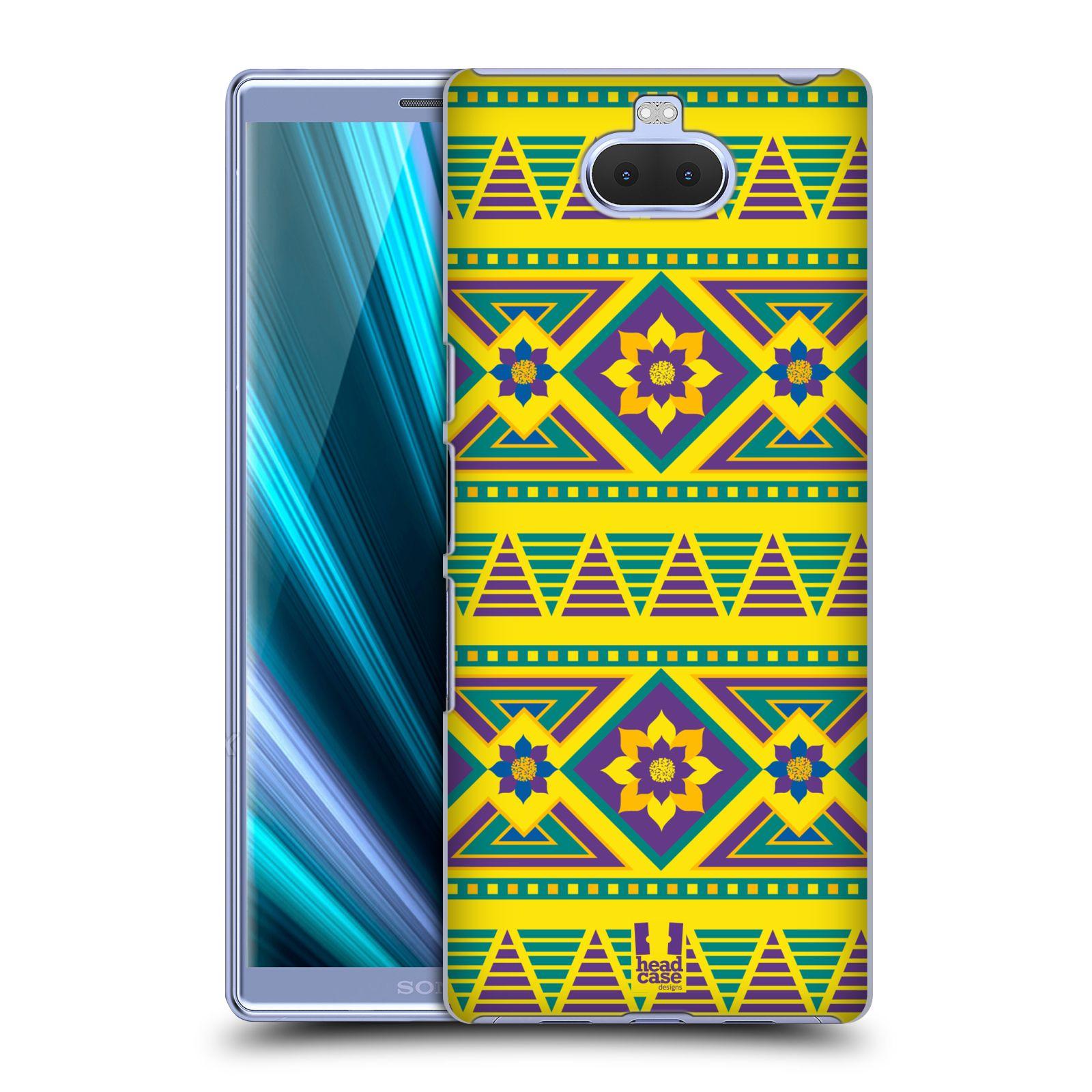 Pouzdro na mobil Sony Xperia 10 - Head Case - vzor Africké motivy 2 KVĚT