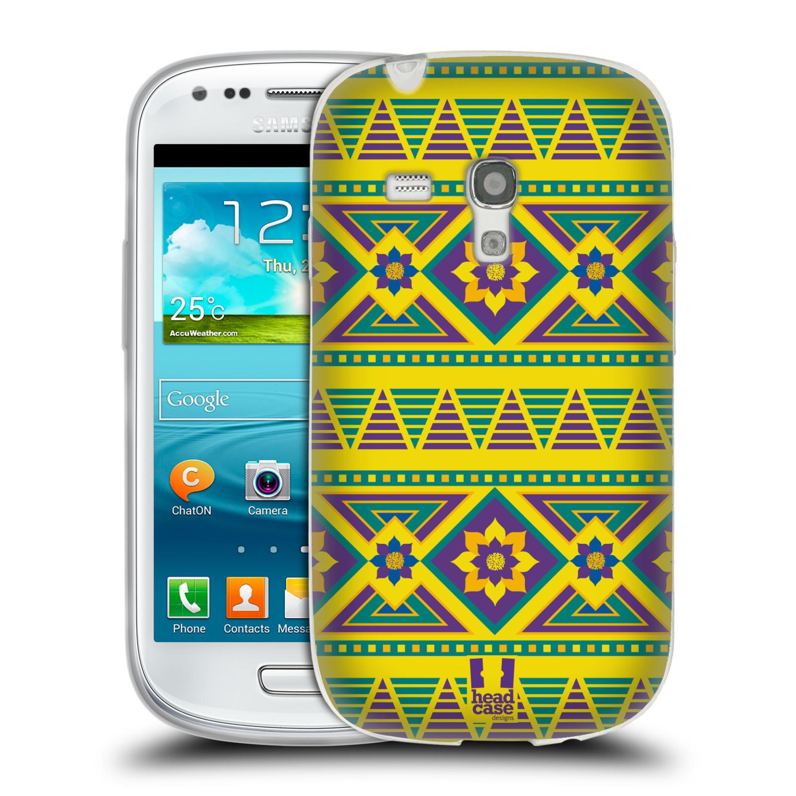 HEAD CASE silikonový obal na mobil Samsung Galaxy S3 MINI i8190 vzor Africké motivy 2 KVĚT