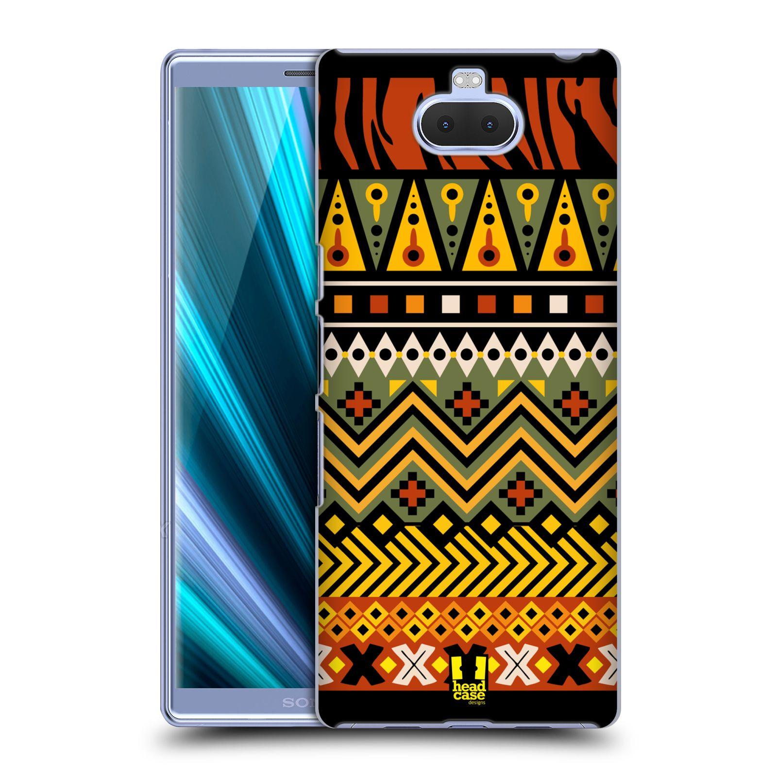 Pouzdro na mobil Sony Xperia 10 - Head Case - vzor Africké motivy 2 DŽUNGLE
