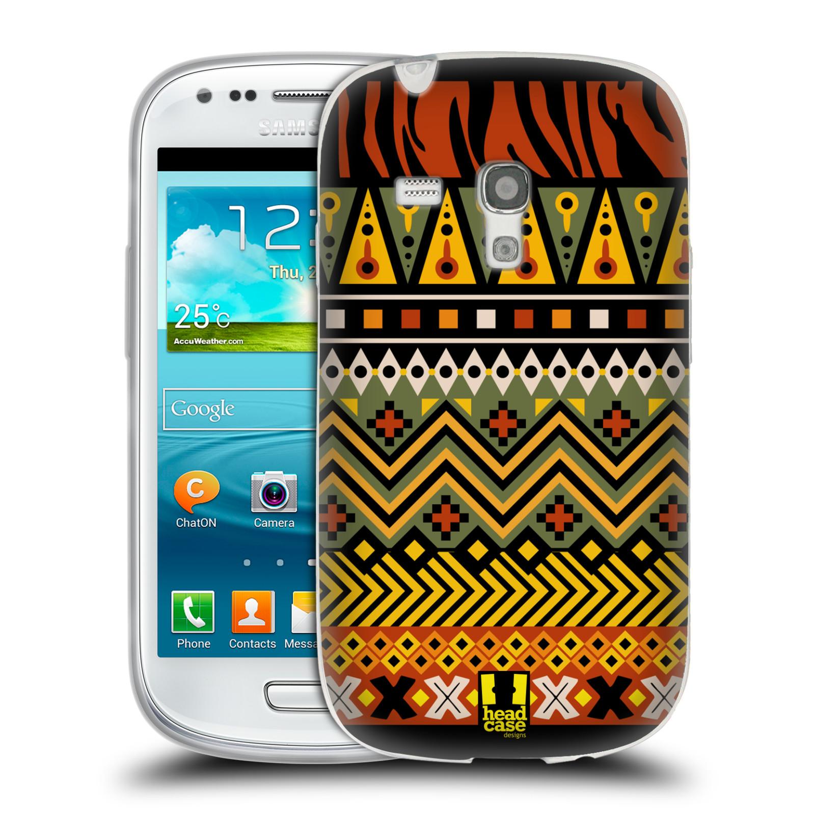 HEAD CASE silikonový obal na mobil Samsung Galaxy S3 MINI i8190 vzor Africké motivy 2 DŽUNGLE