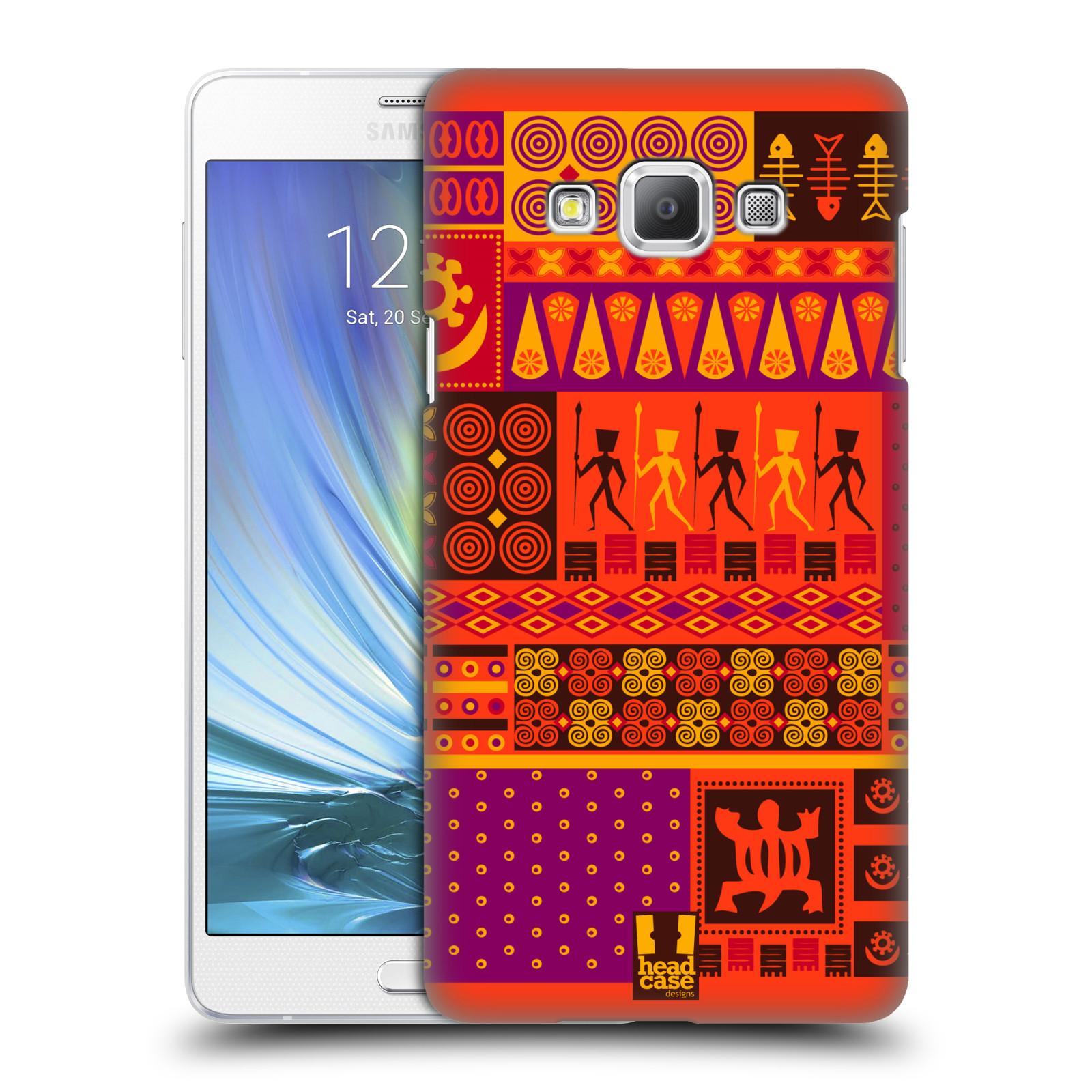 HEAD CASE plastový obal na mobil SAMSUNG GALAXY A7 vzor Africké motivy 2 SAFARI západ slunce