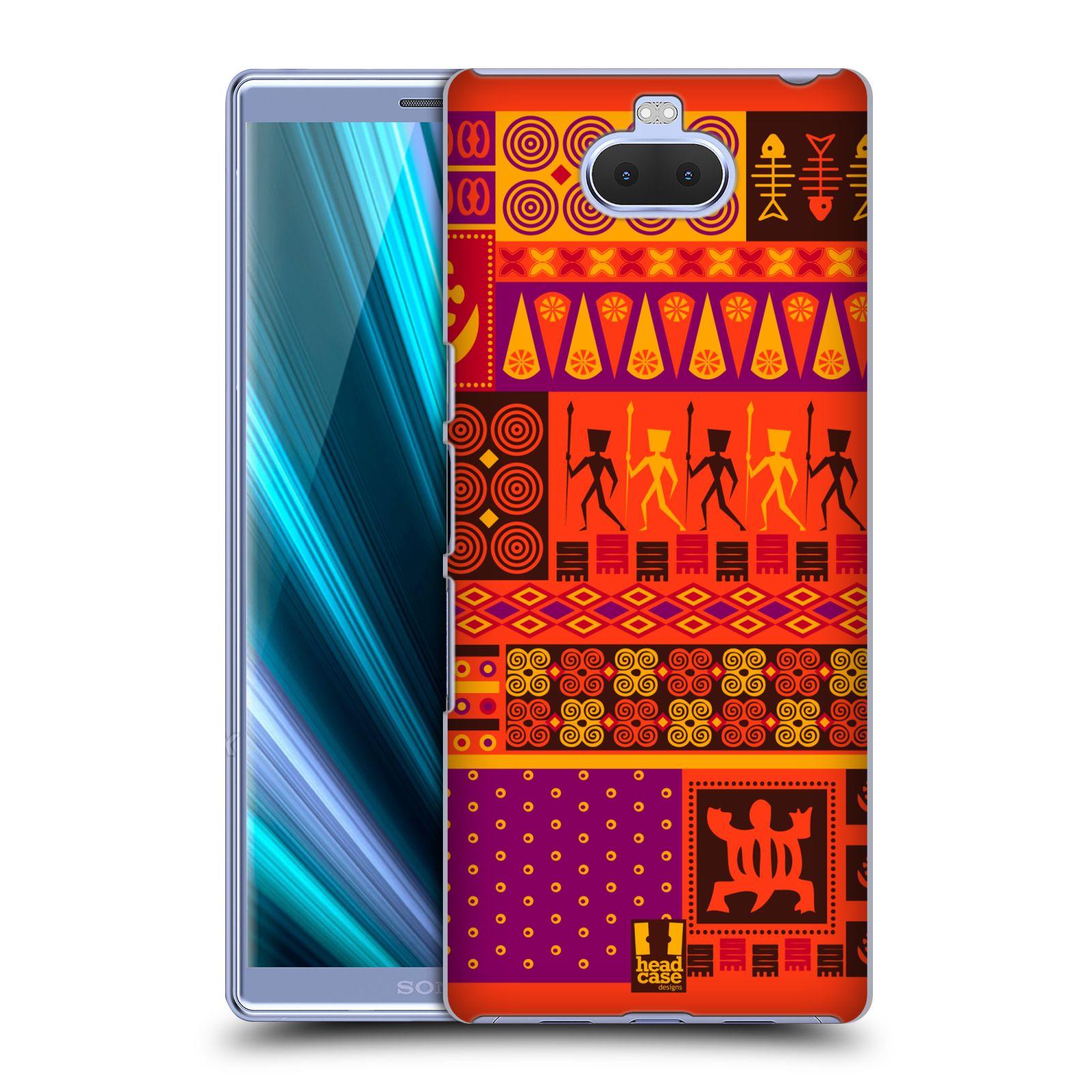 Pouzdro na mobil Sony Xperia 10 - Head Case - vzor Africké motivy 2 SAFARI západ slunce