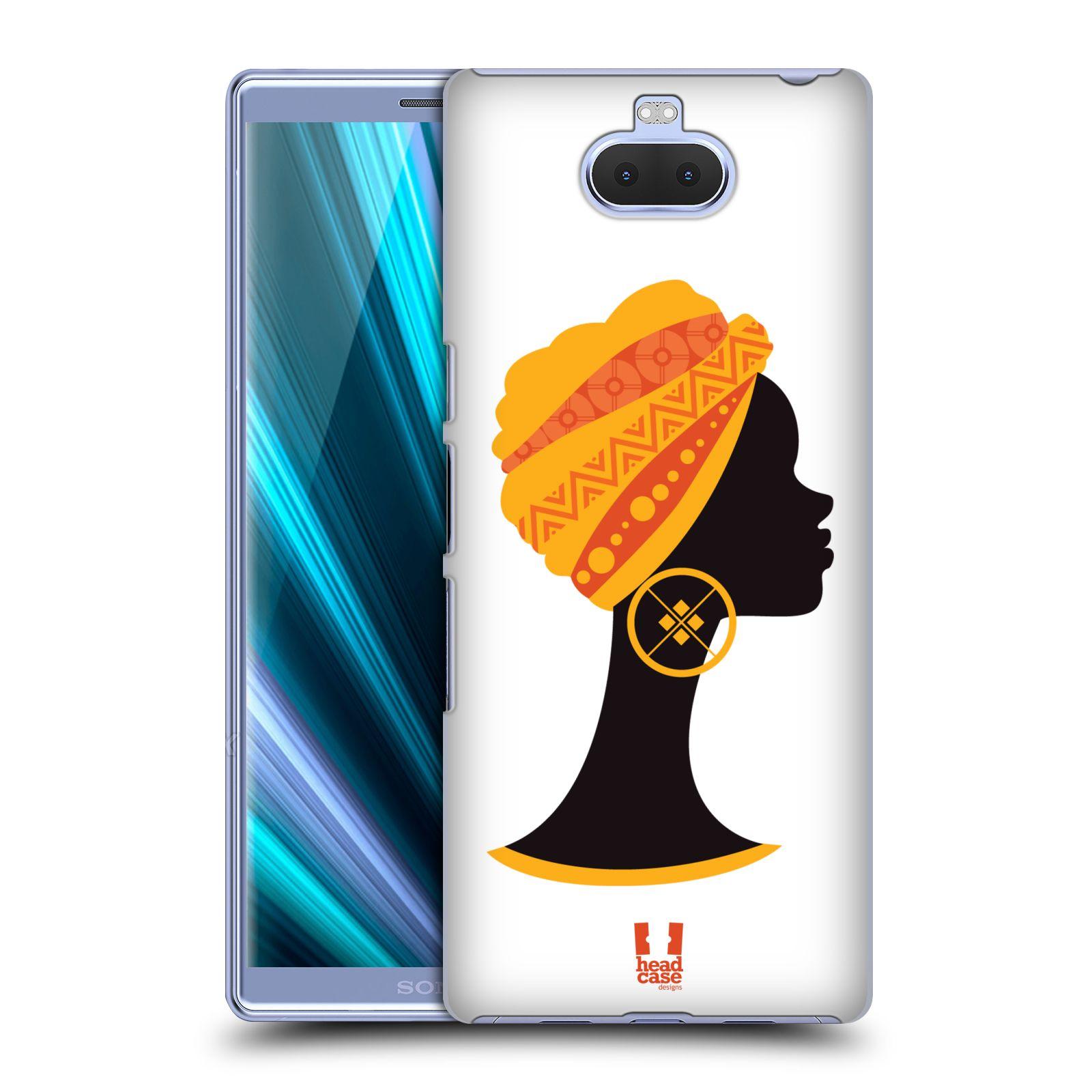 Pouzdro na mobil Sony Xperia 10 - Head Case - vzor Africké motivy SILUETA
