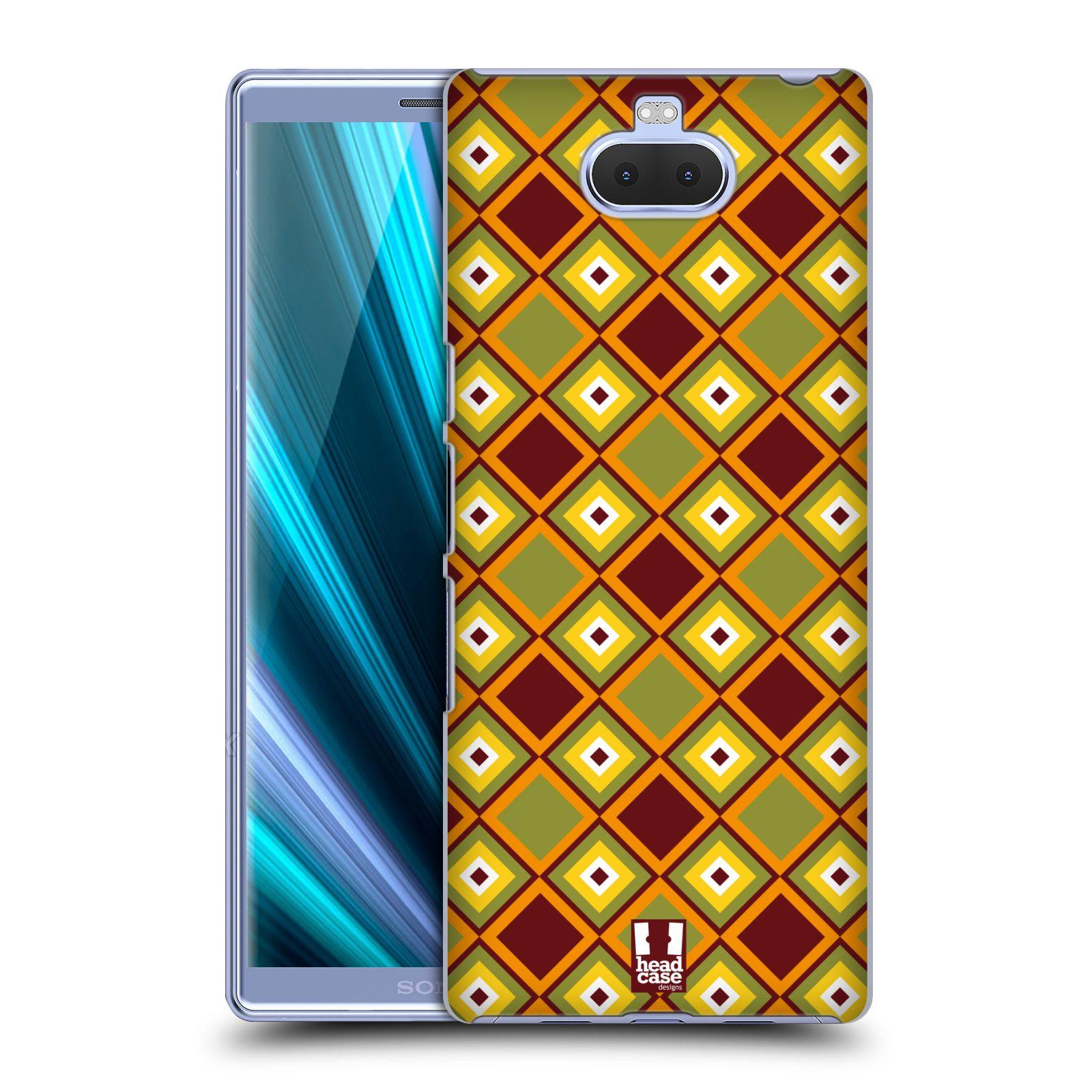 Pouzdro na mobil Sony Xperia 10 - Head Case - vzor Africké motivy DIAMANT