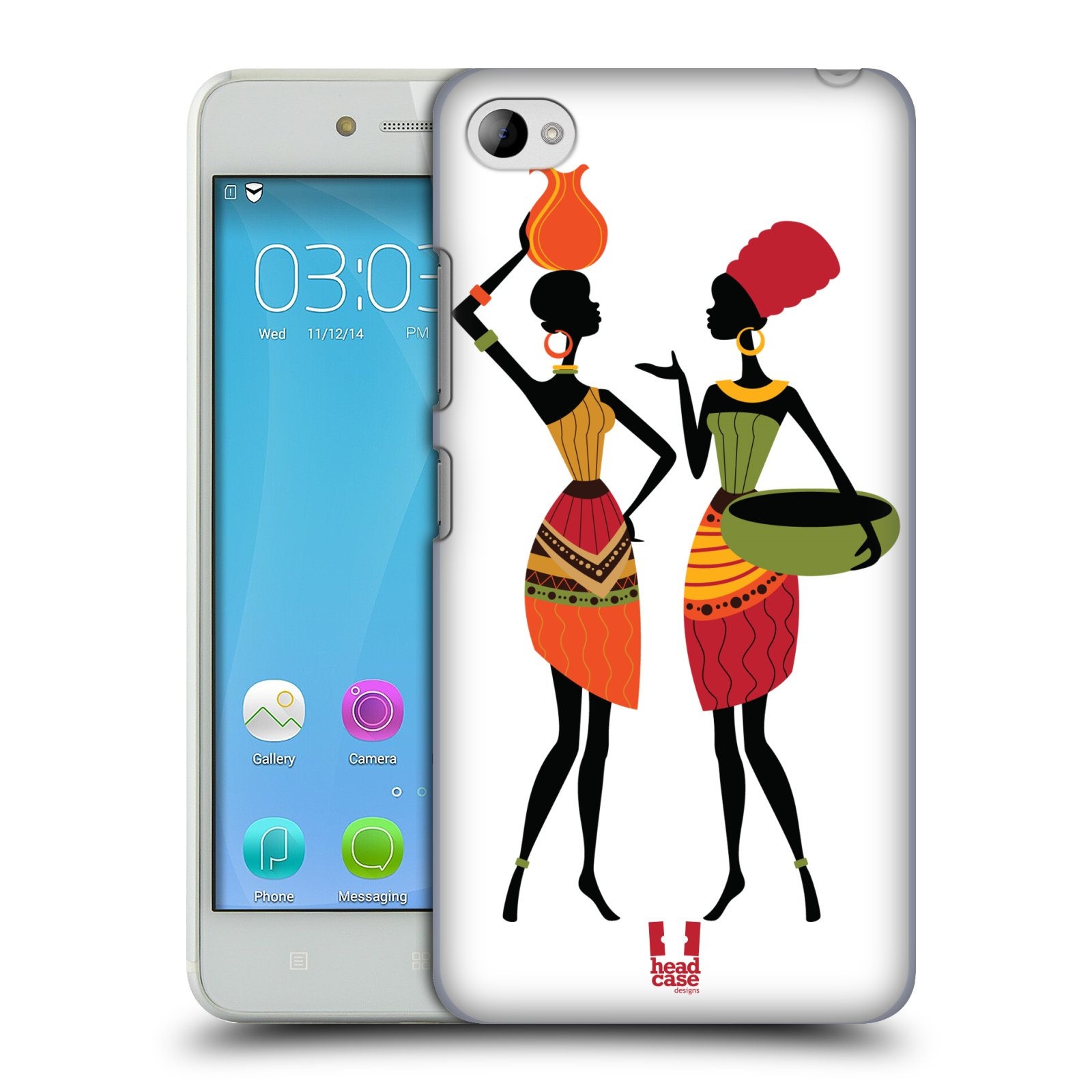 HEAD CASE pevný plastový obal na mobil LENOVO S90 vzor Africké motivy DRBNY