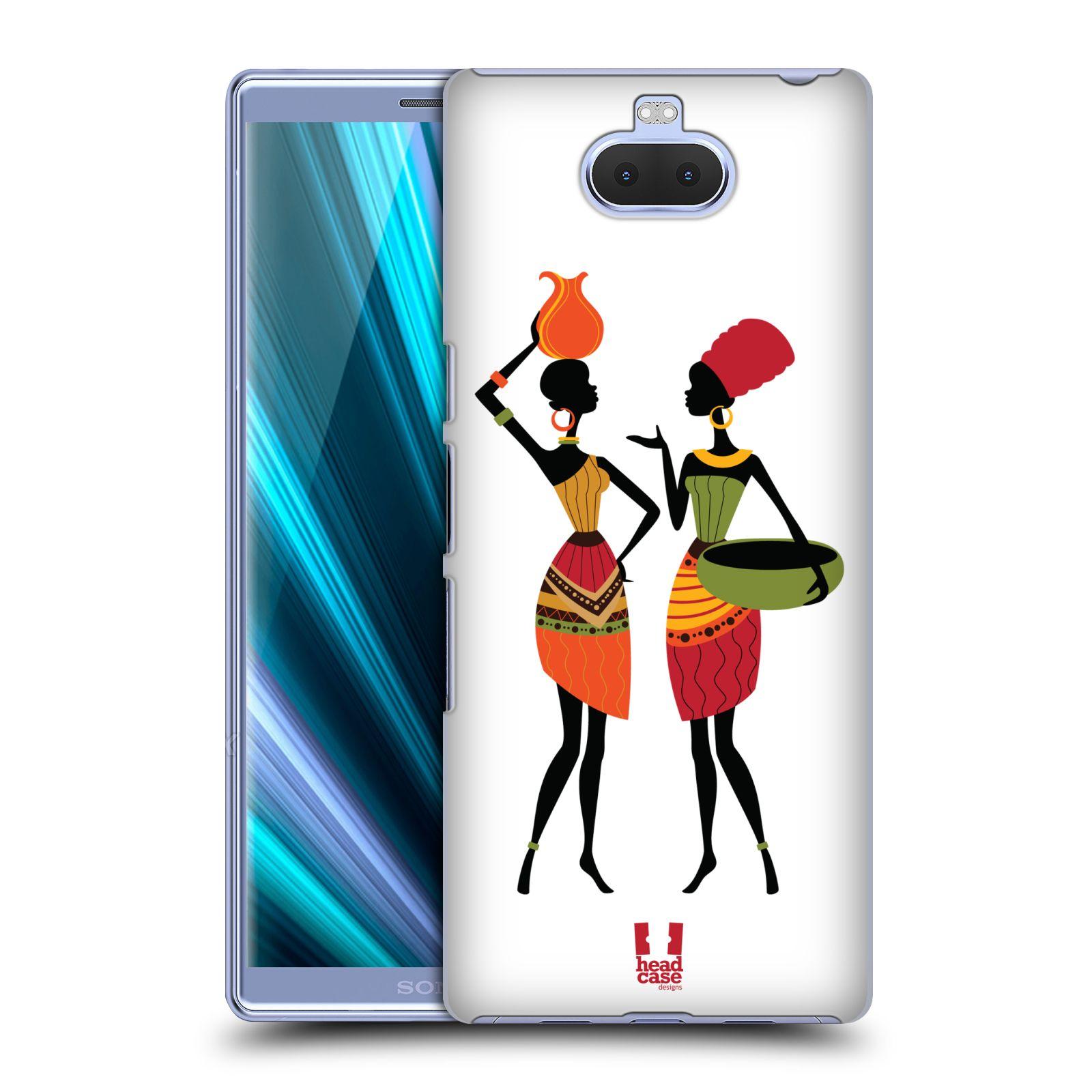 Pouzdro na mobil Sony Xperia 10 - Head Case - vzor Africké motivy DRBNY