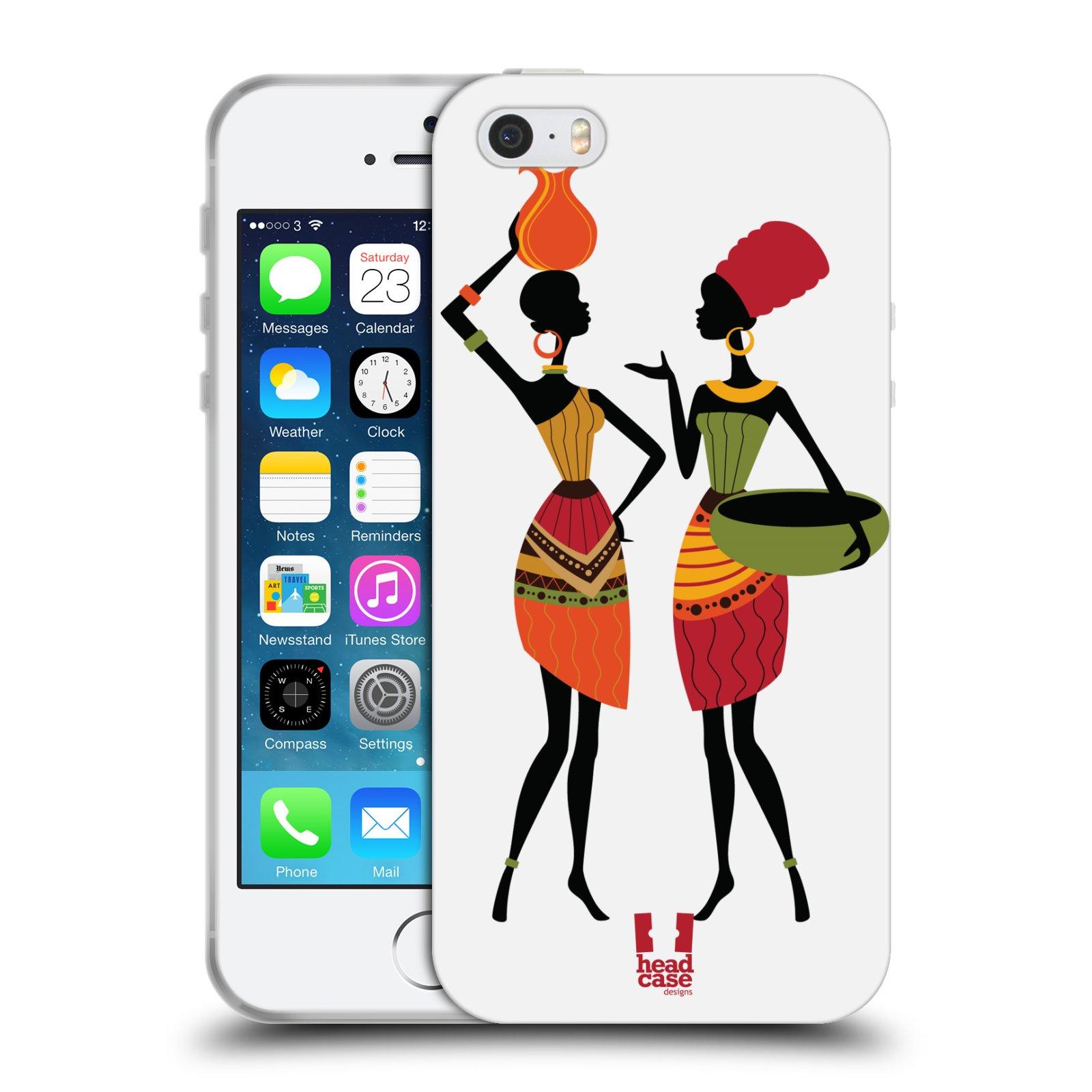 HEAD CASE silikonový obal na mobil Apple Iphone 5/5S vzor Africké motivy DRBNY