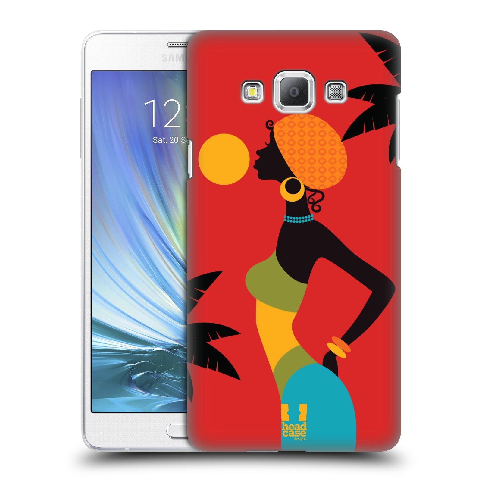 HEAD CASE plastový obal na mobil SAMSUNG GALAXY A7 vzor Africké motivy ZÁPAD SLUNCE