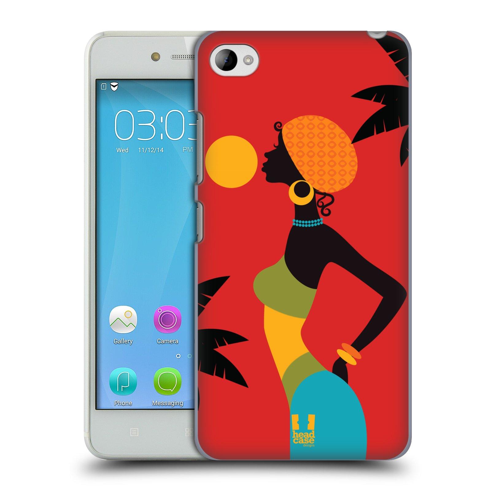 HEAD CASE pevný plastový obal na mobil LENOVO S90 vzor Africké motivy ZÁPAD SLUNCE