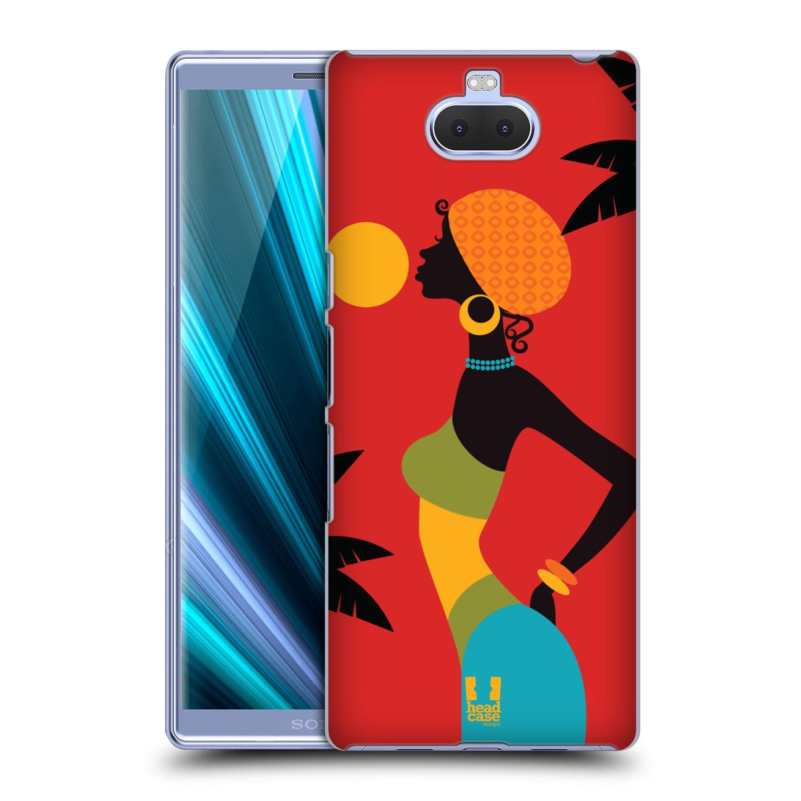 Pouzdro na mobil Sony Xperia 10 - Head Case - vzor Africké motivy ZÁPAD SLUNCE