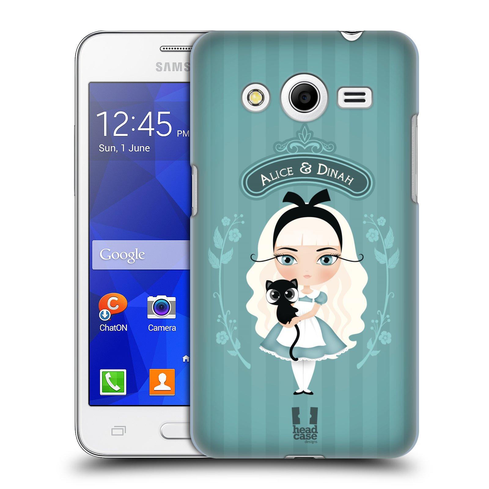 HEAD CASE plastový obal na mobil SAMSUNG GALAXY Core 2 (G355H) vzor Alenka v říši divů Alenka