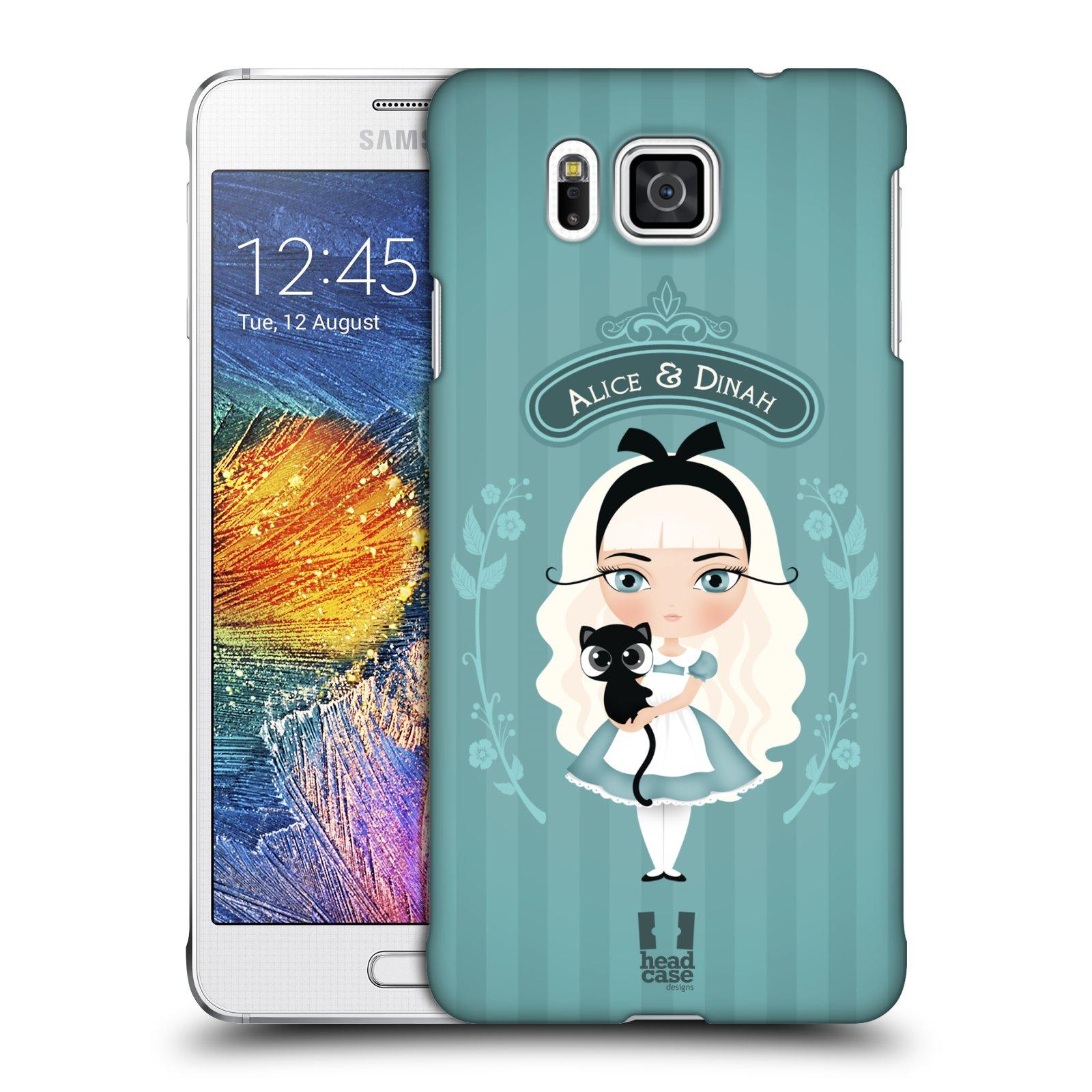 HEAD CASE plastový obal na mobil SAMSUNG Galaxy Alpha (G850) vzor Alenka v říši divů Alenka
