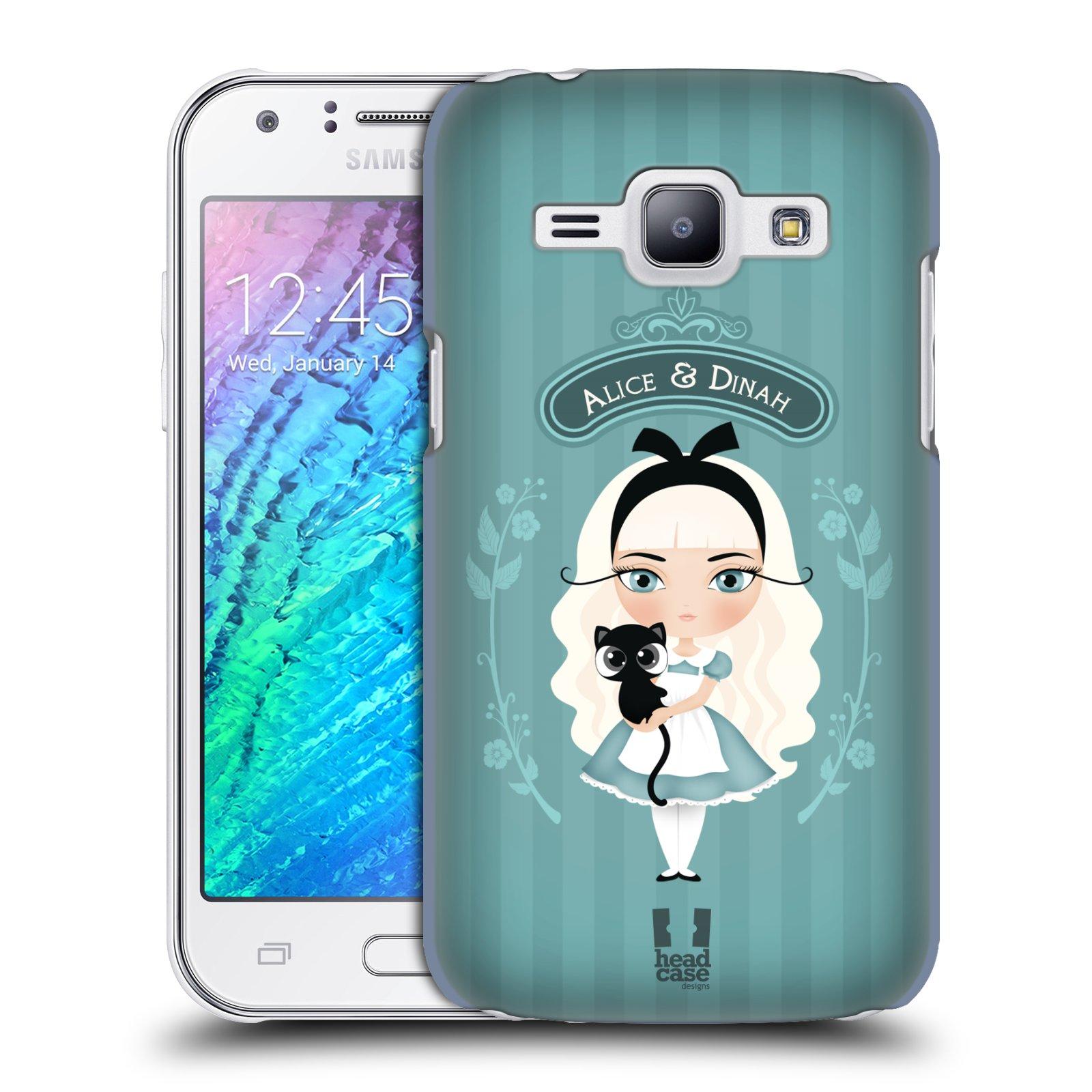 HEAD CASE plastový obal na mobil SAMSUNG Galaxy J1, J100 vzor Alenka v říši divů Alenka