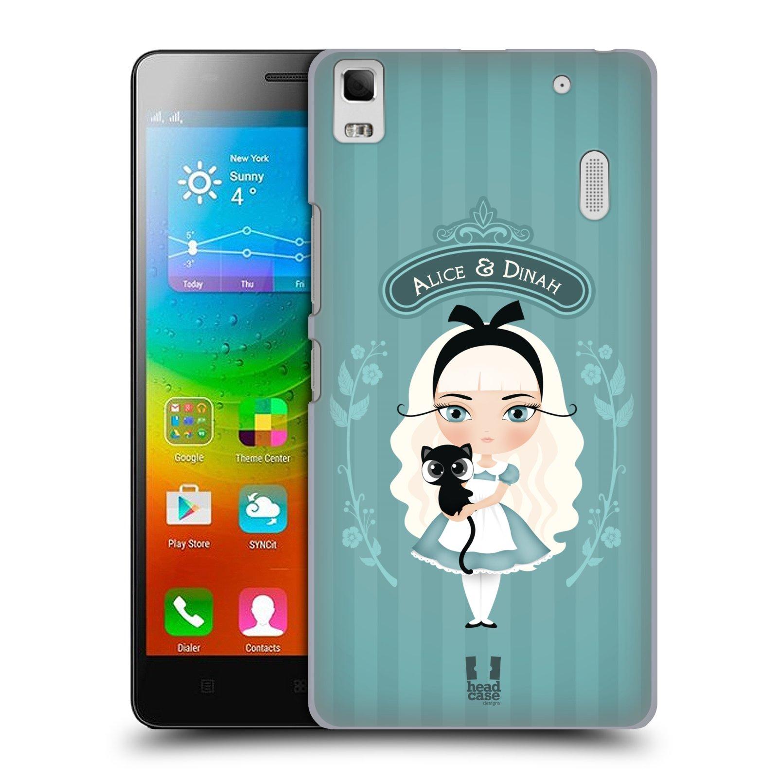HEAD CASE pevný plastový obal na mobil LENOVO A7000 / A7000 DUAL / K3 NOTE vzor Alenka v říši divů Alenka