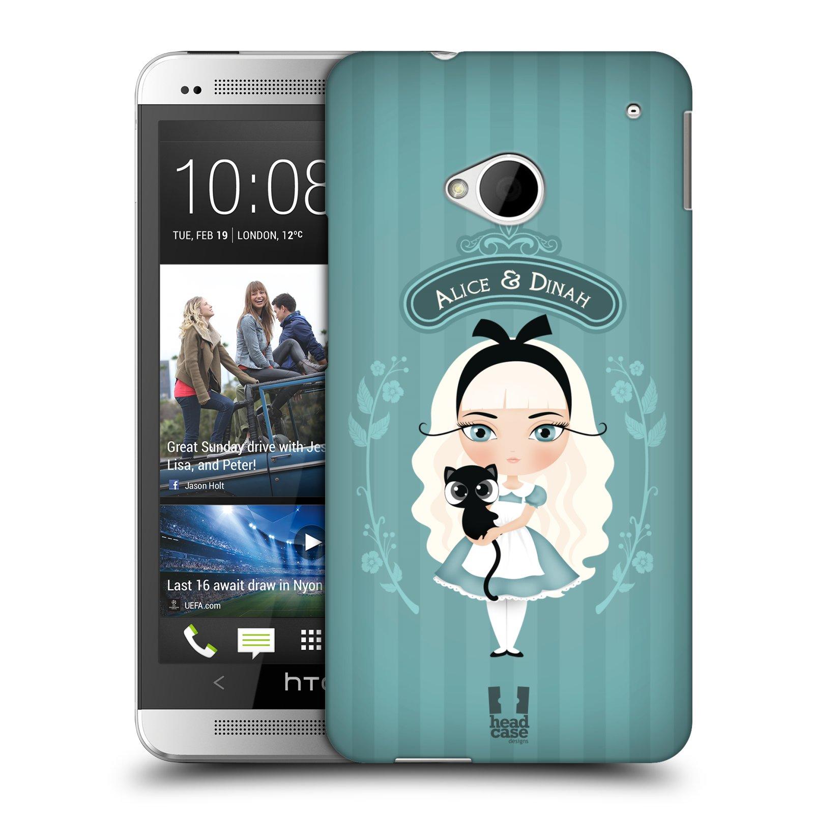 HEAD CASE plastový obal na mobil HTC One (M7) vzor Alenka v říši divů Alenka