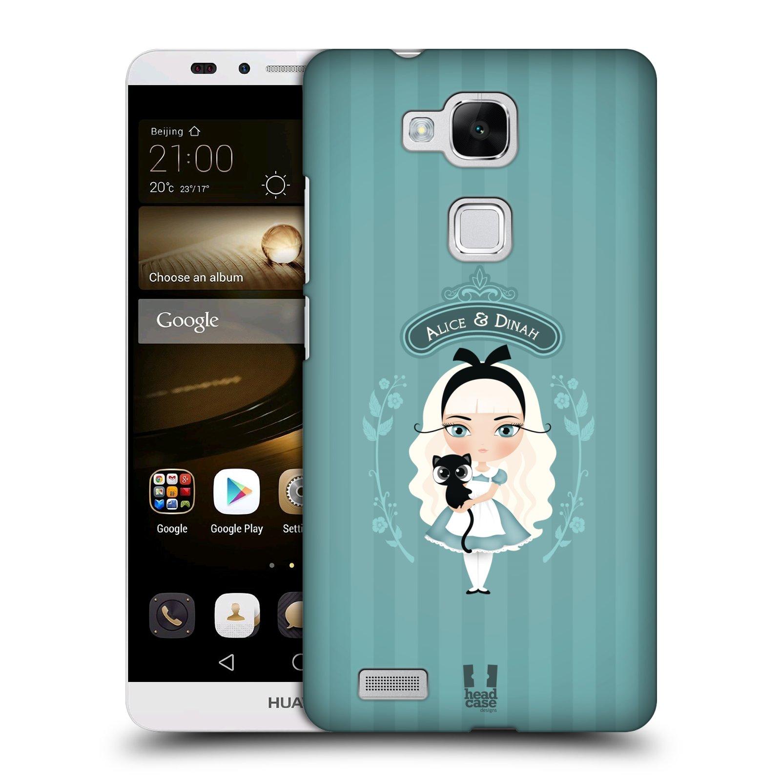 HEAD CASE plastový obal na mobil Huawei Mate 7 vzor Alenka v říši divů Alenka