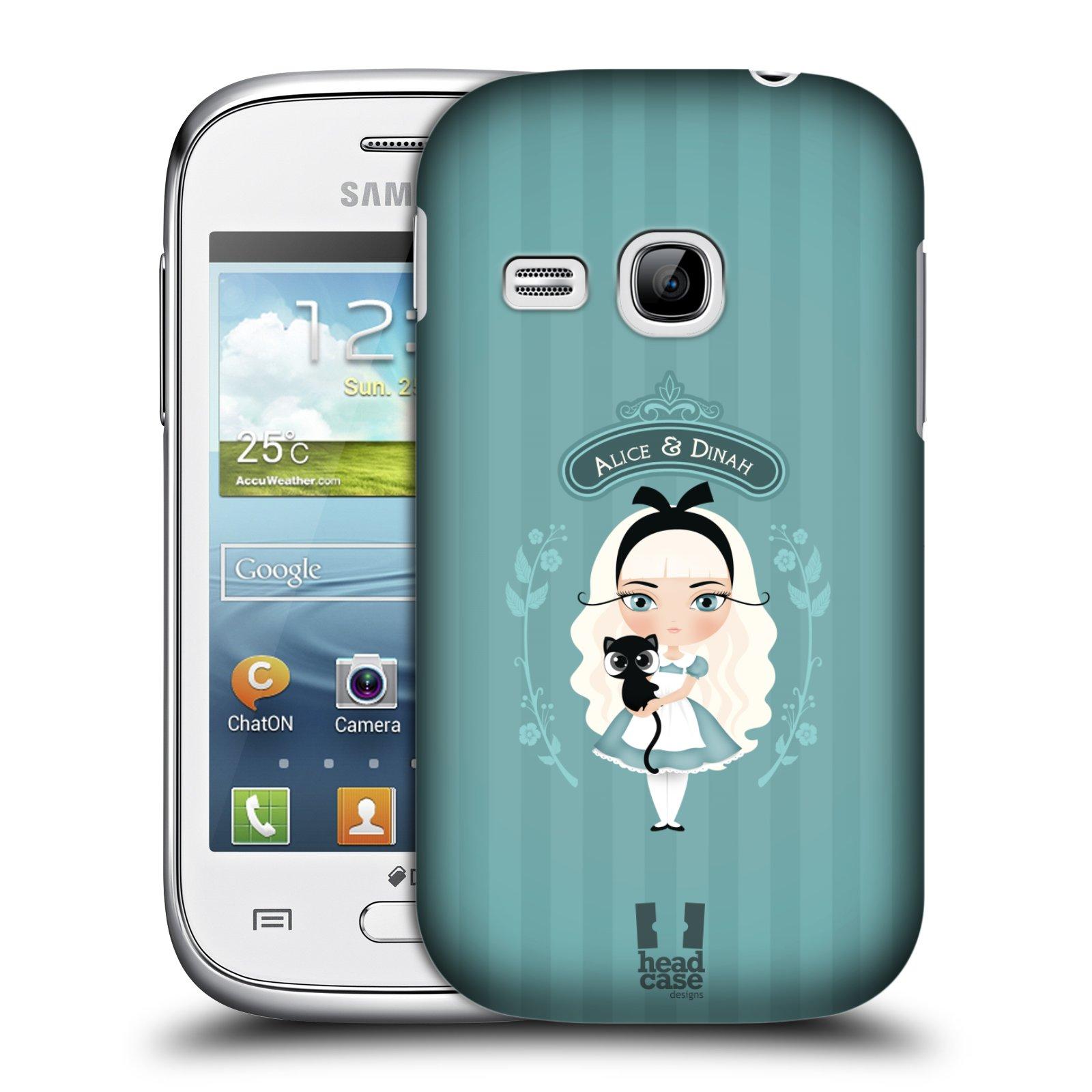 HEAD CASE plastový obal na mobil SAMSUNG Galaxy Young S6310 vzor Alenka v říši divů Alenka