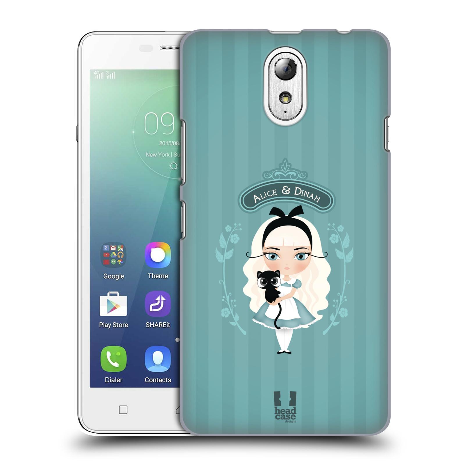 HEAD CASE pevný plastový obal na mobil LENOVO VIBE P1m / LENOVO VIBE p1m DUAL SIM vzor Alenka v říši divů Alenka