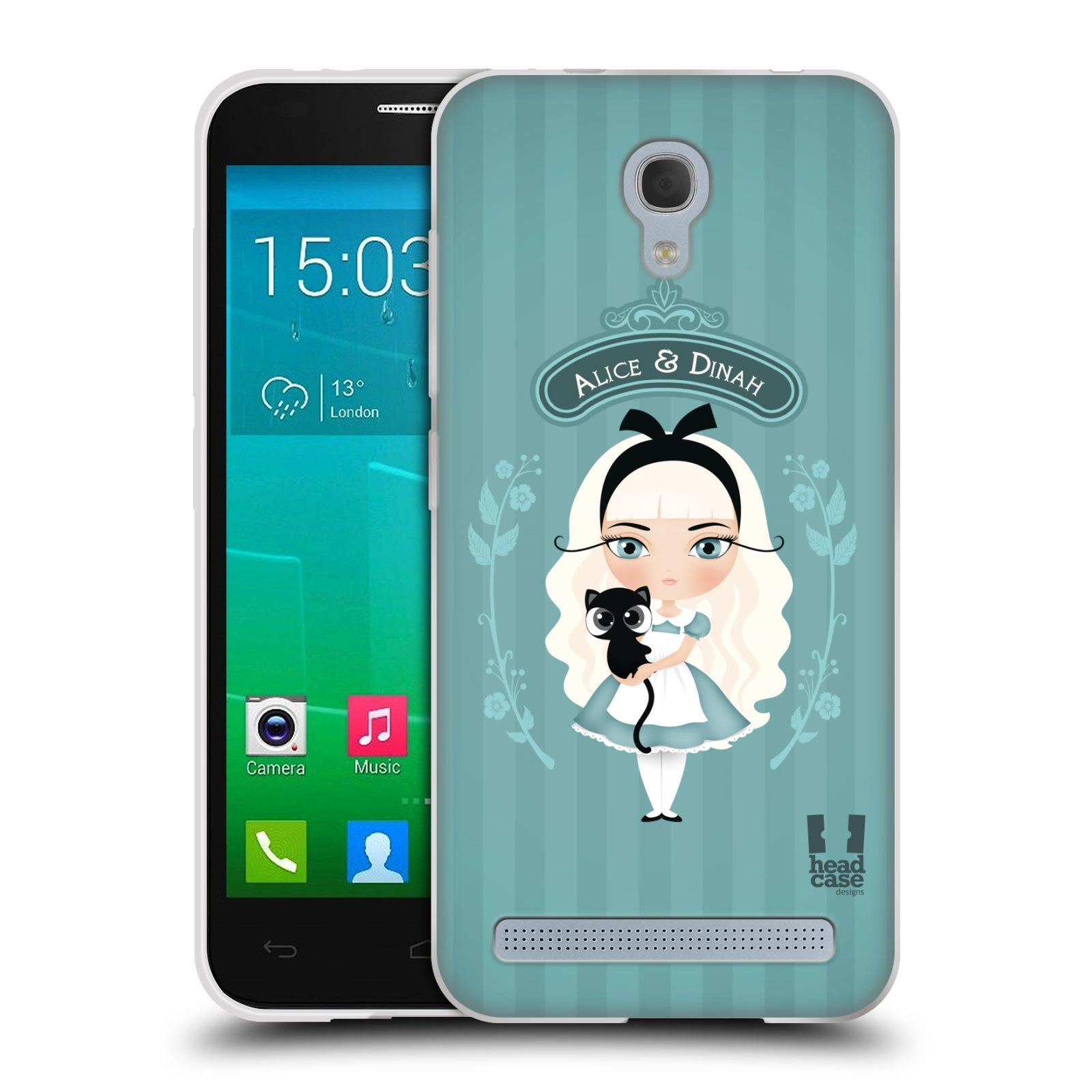 HEAD CASE silikonový obal na mobil Alcatel Idol 2 MINI S 6036Y vzor Alenka v říši divů Alenka