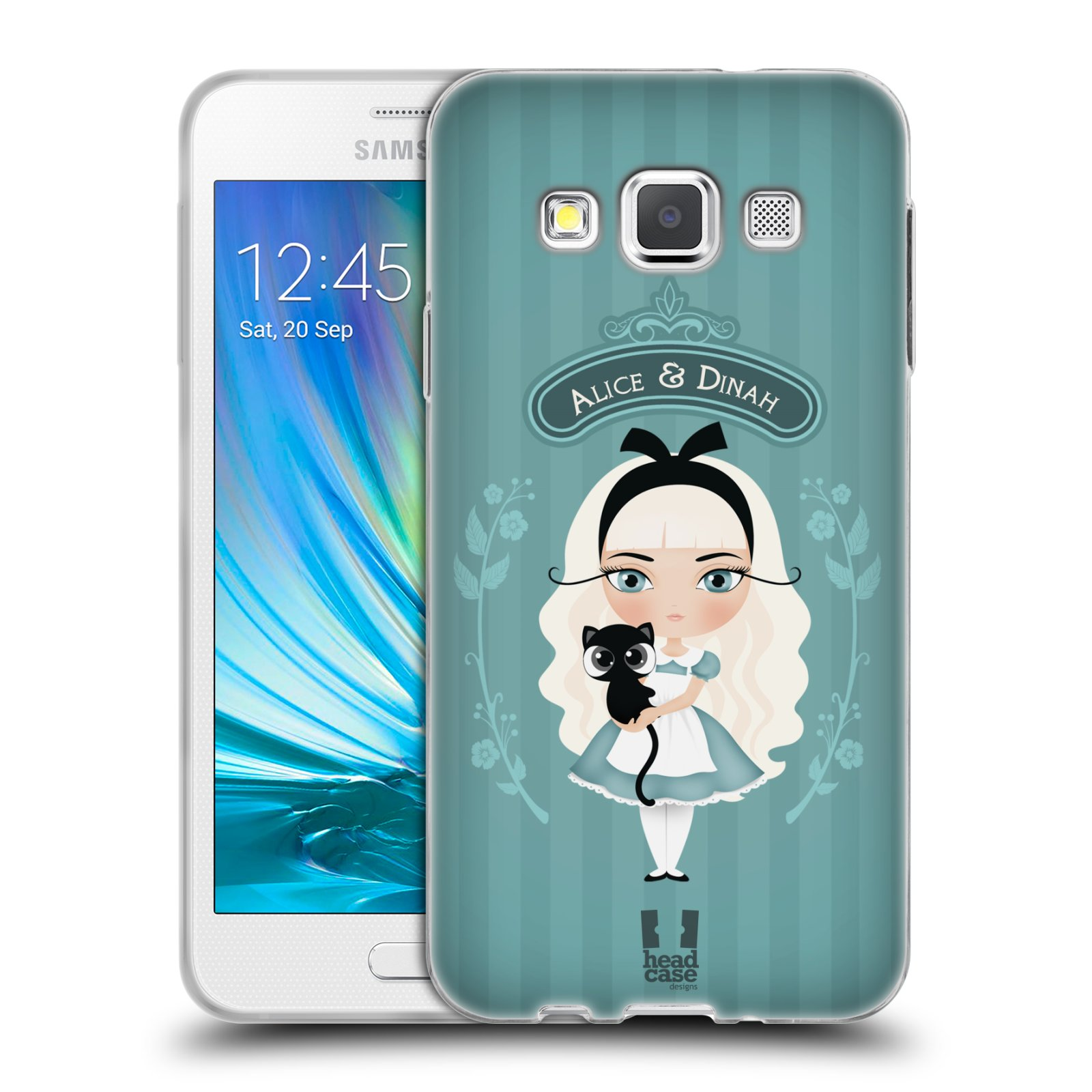 HEAD CASE silikonový obal na mobil Samsung Galaxy A3 vzor Alenka v říši divů Alenka